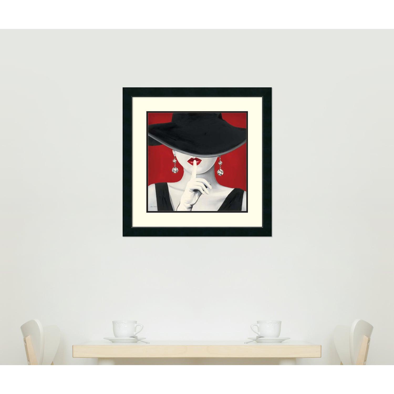 Shop Framed Art Print \'Haute Chapeau Rouge I\' by Marco Fabiano 27 x ...