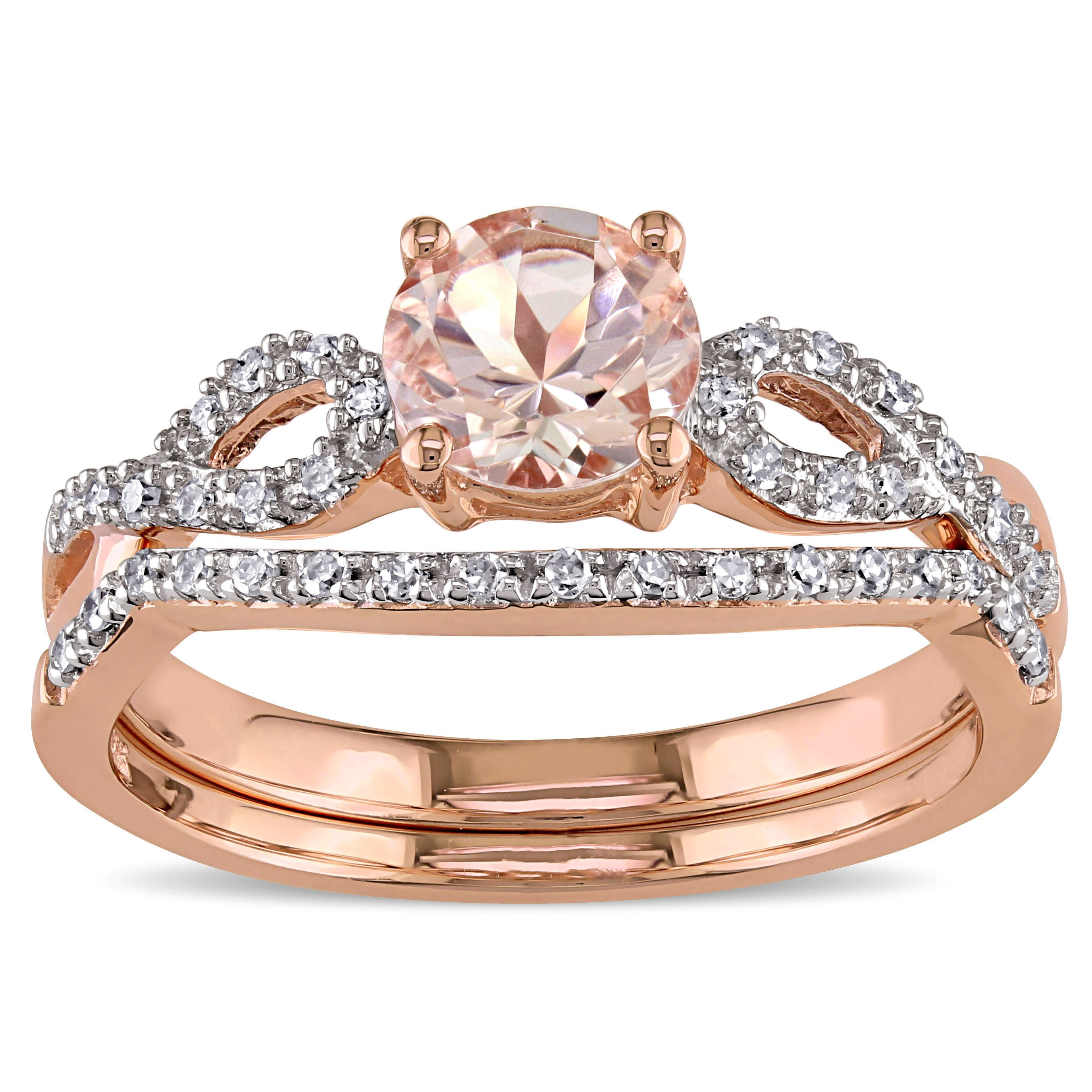 prongs cokh cut on wedding custom square for cushion band ring rings diamond order true with oval and product diamonds pink morganite engagement
