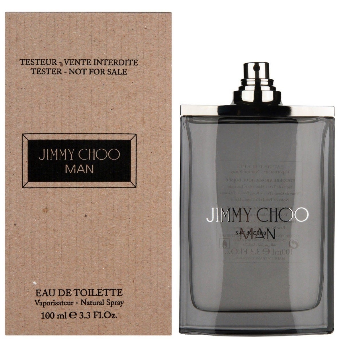 5e24cac1cf29 Shop Jimmy Choo Man 3.3-ounce Eau de Toilette Spray (Tester) - Free  Shipping Today - Overstock - 10469340