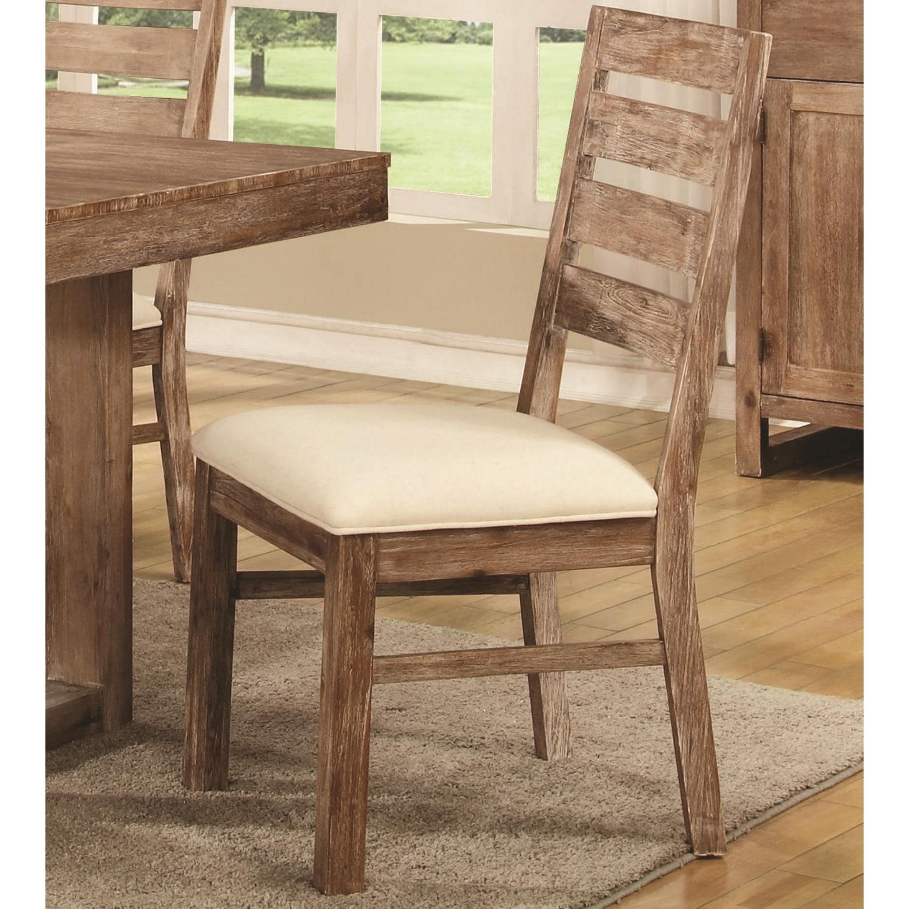Madison Distressed Acacia Wood Dining Chairs Set of 2 Free