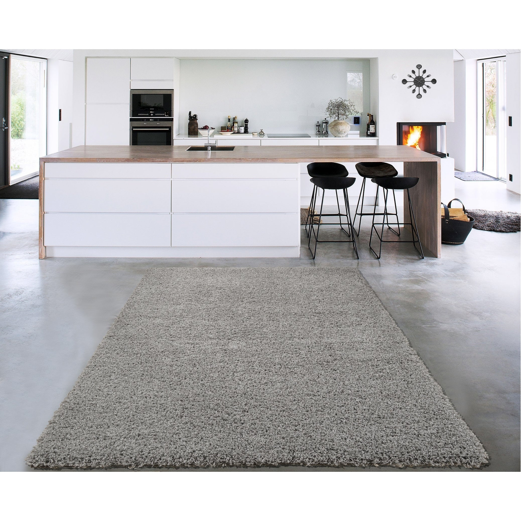 Shop Sweet Home Stores Cozy Shag Collection Accent Rug (3' x 5 ... on