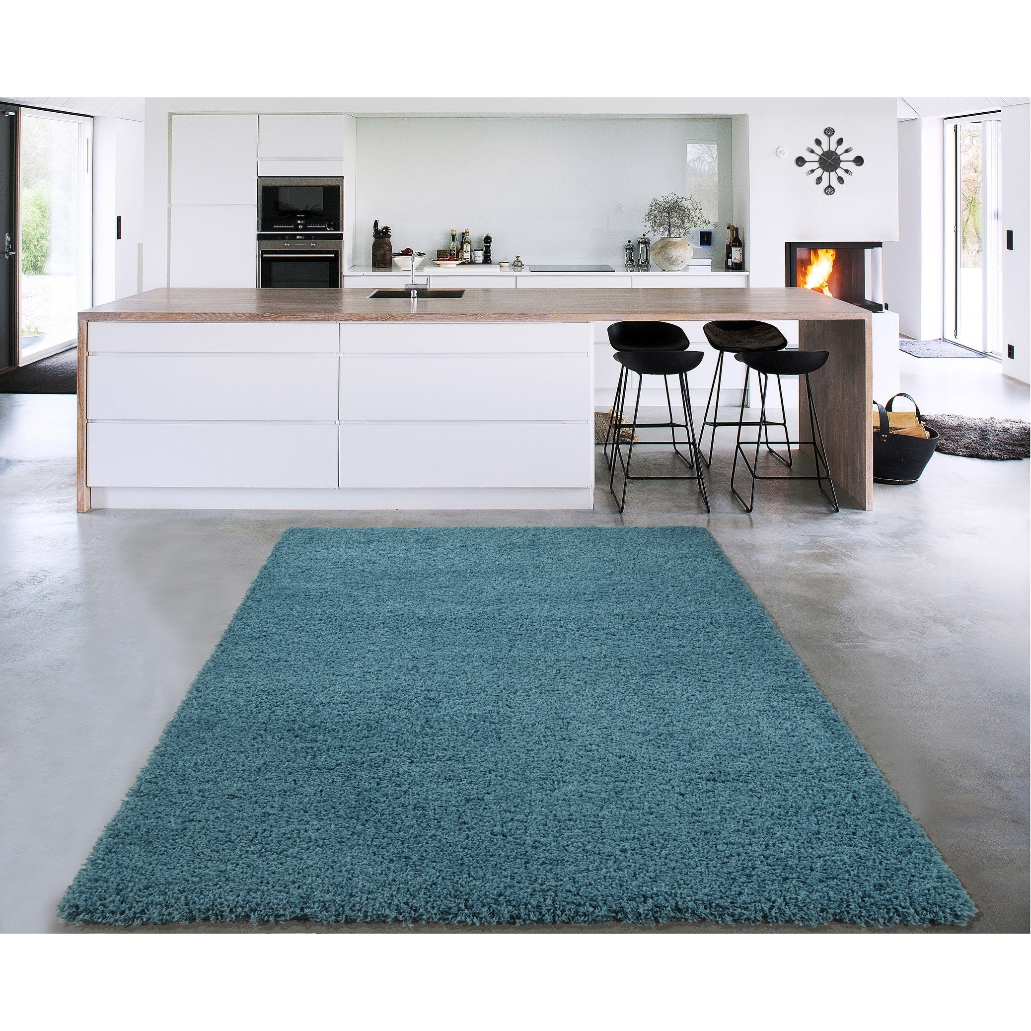 Shop Sweet Home Stores Cozy Shag Collection Accent Rug (3\' x 5 ...
