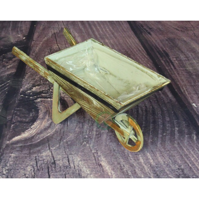 Shop Small Wheelbarrow Planter   Free Shipping On Orders Over $45    Overstock.com   10469997