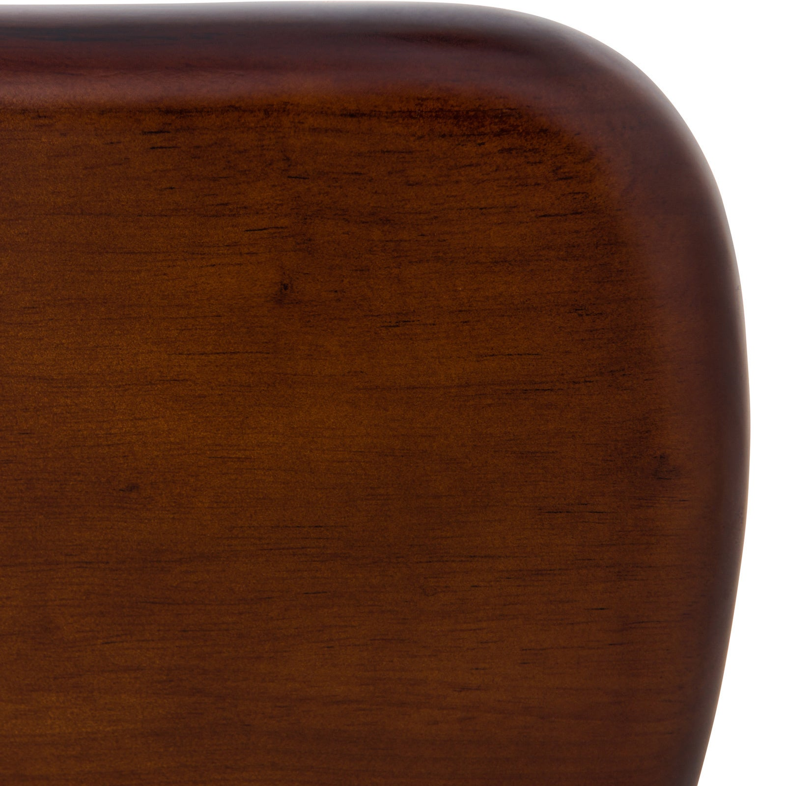 LeisureMod Imperial Triangle Coffee Table with Dark Walnut Wood