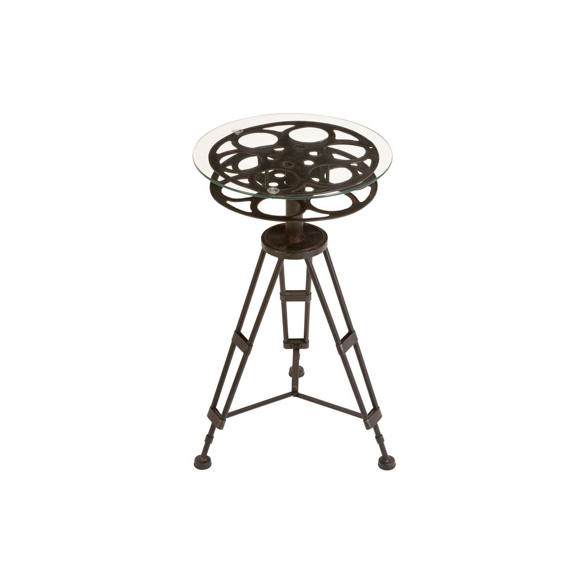 Merveilleux Shop Movie Reel Accent Table   Free Shipping Today   Overstock.com    10470264