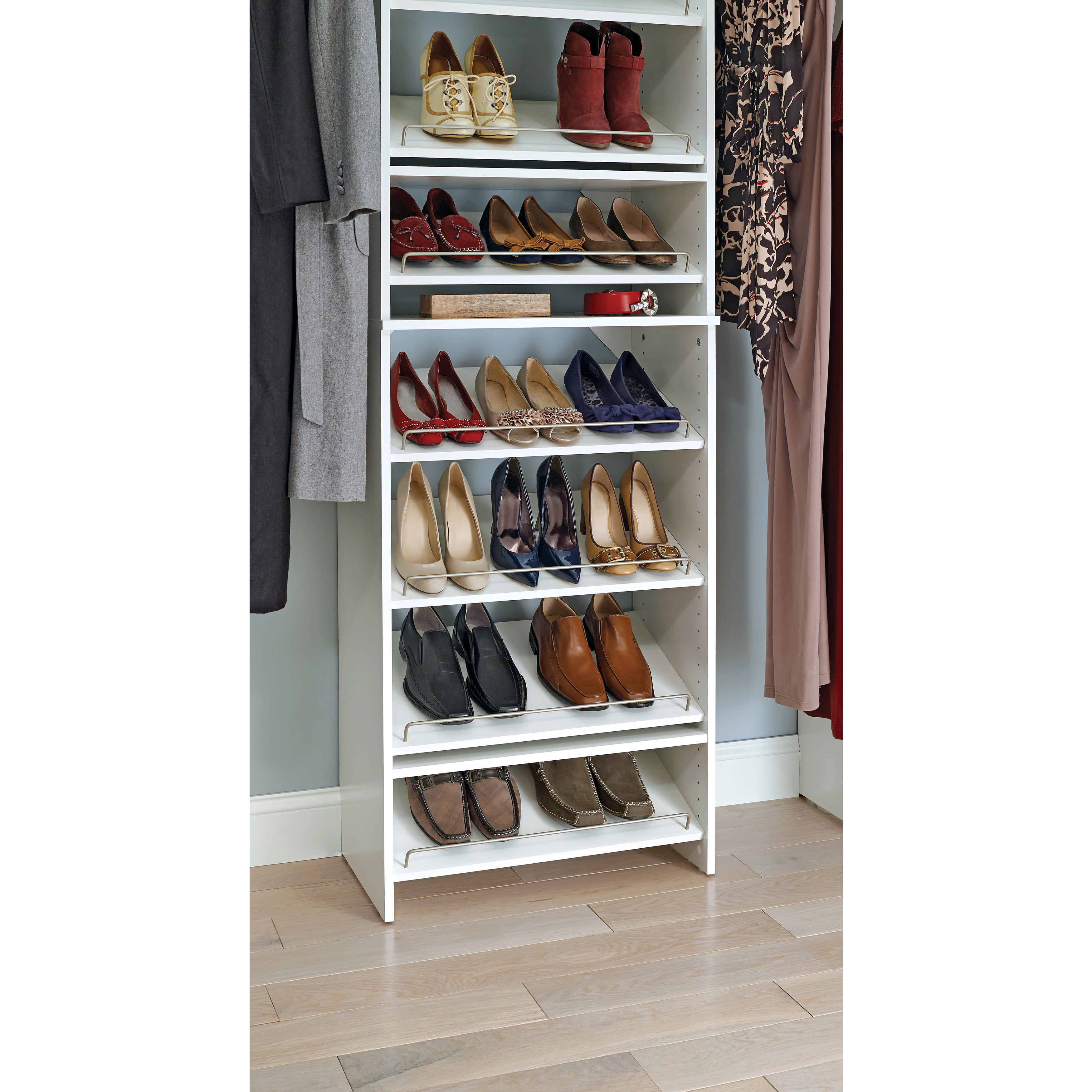 Angled Shoe Shelves  Free Shipping On Orders Over $45