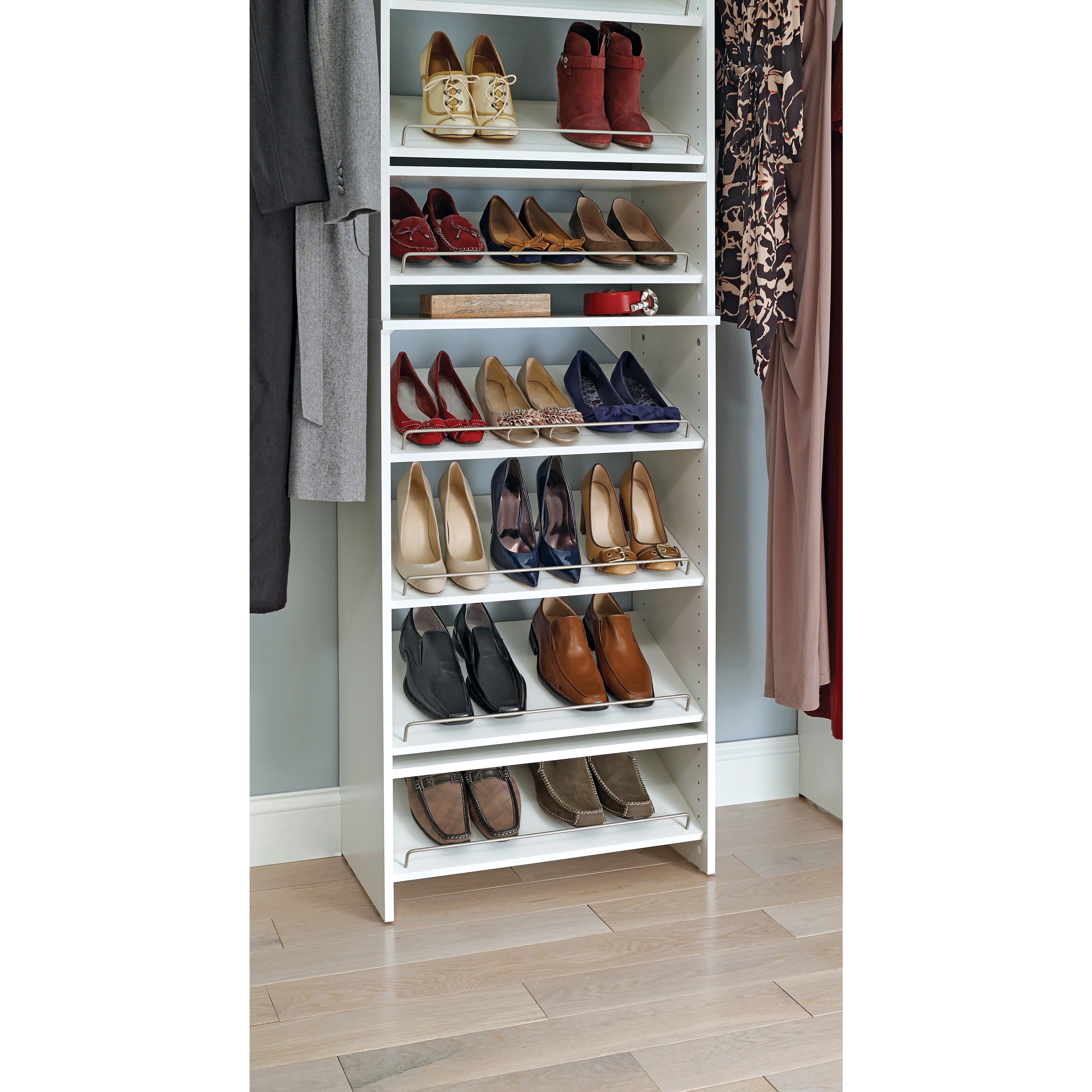 Merveilleux Shop ClosetMaid SuiteSymphony 25 In. Angled Shoe Shelves   Free Shipping On  Orders Over $45   Overstock.com   10470299