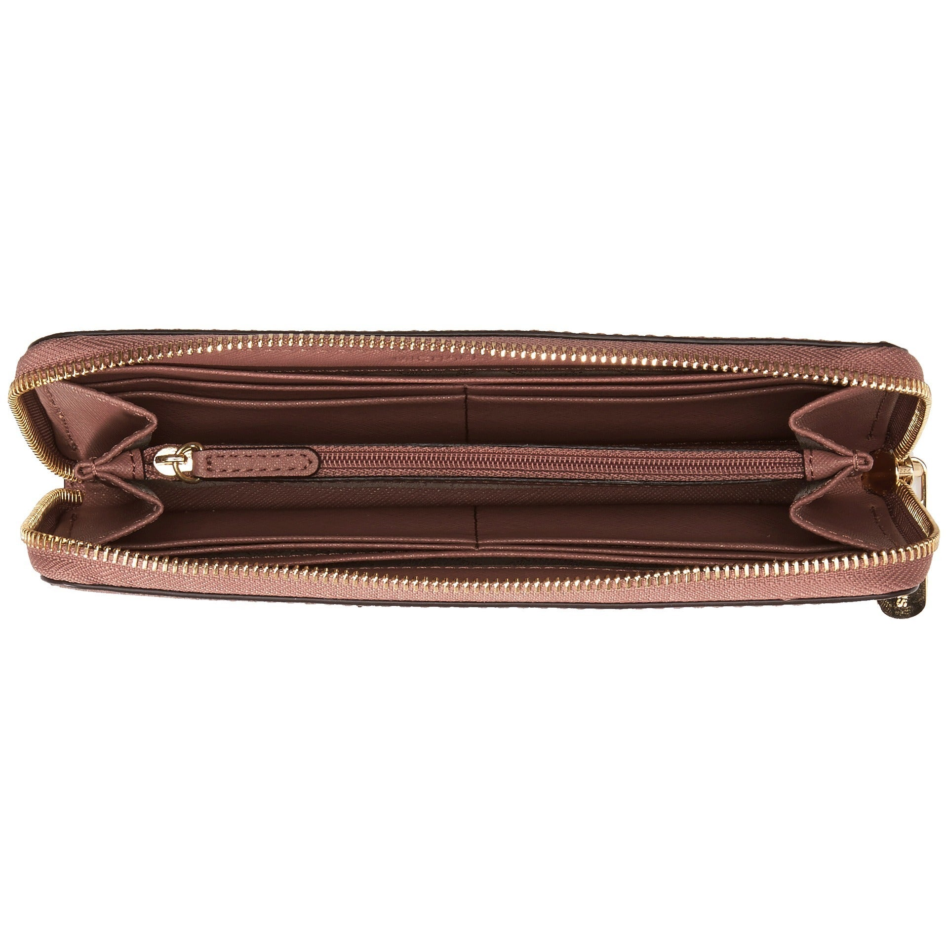 dbe957650dab Shop Michael Kors Jet Set Leather Dusty Rose Continental Travel Wallet -  Free Shipping Today - Overstock - 10473389