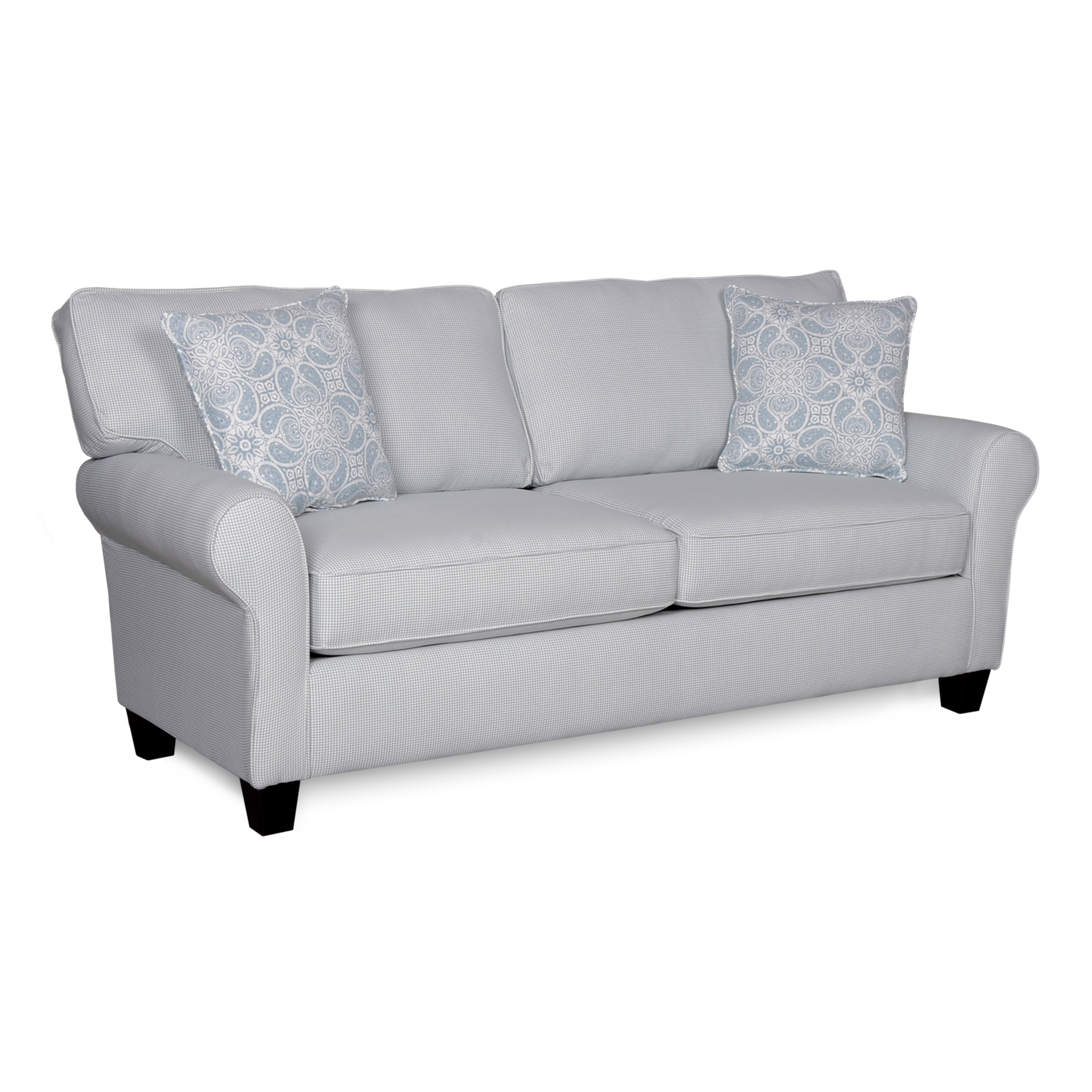 Beau Shop Sofab Bella Lake Gingham Sofa With Two Accent Pillows   Free Shipping  Today   Overstock.com   10473796