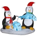 Animated Penguins Ice Fishing Indoor/ Outdoor Inflatable