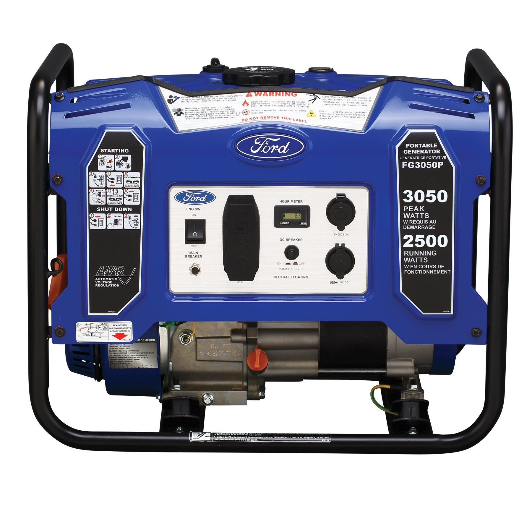 Ford 3050 watt Portable Generator Free Shipping Today