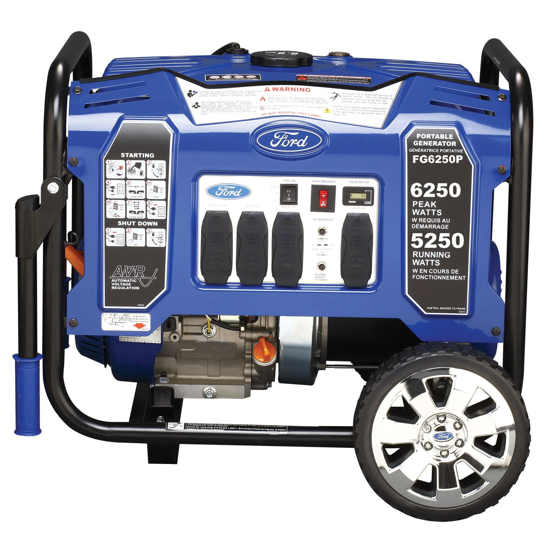 Ford 6250 watt Portable Generator Free Shipping Today