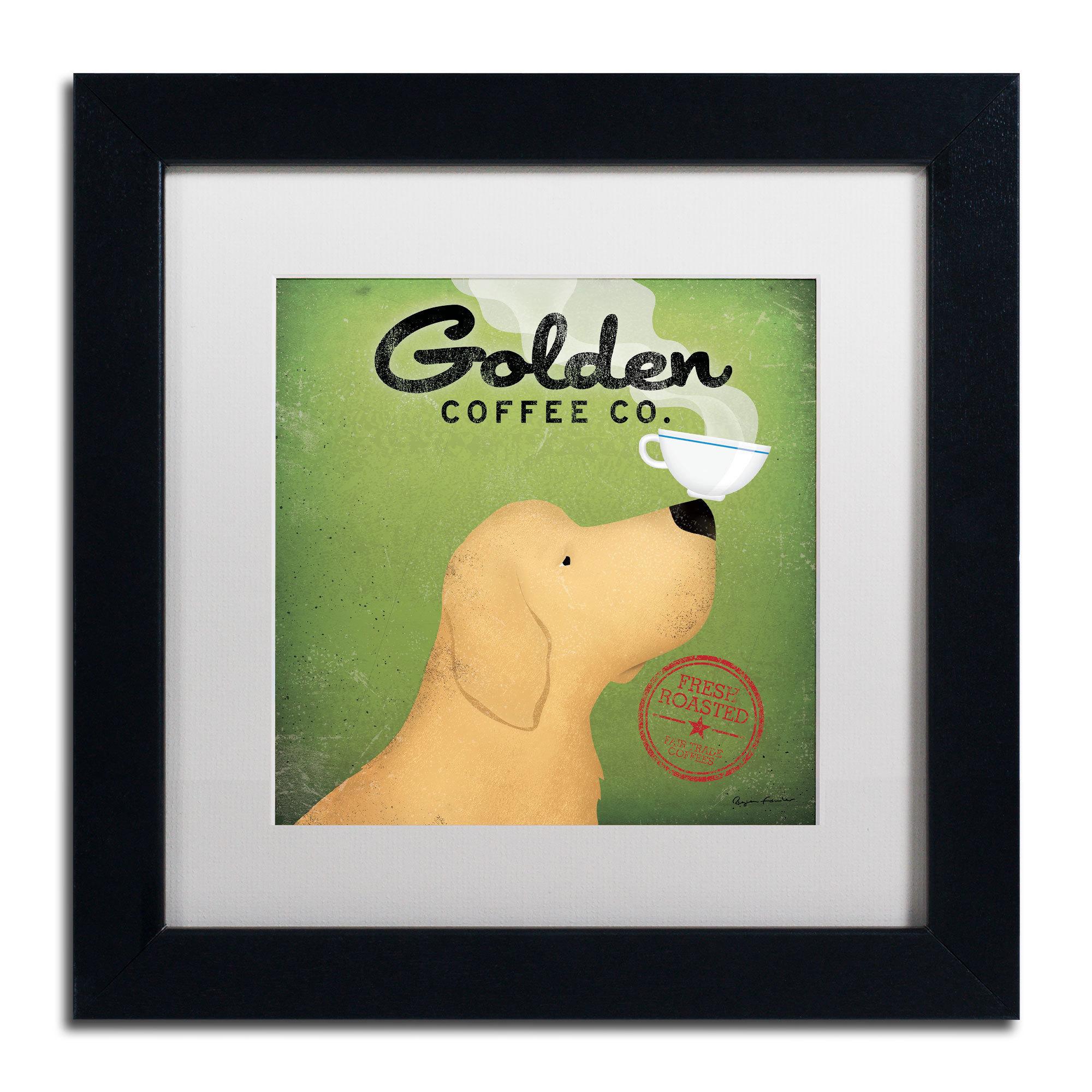Shop Ryan Fowler \'Golden Coffee Co\' White Matte, Black Framed Wall ...