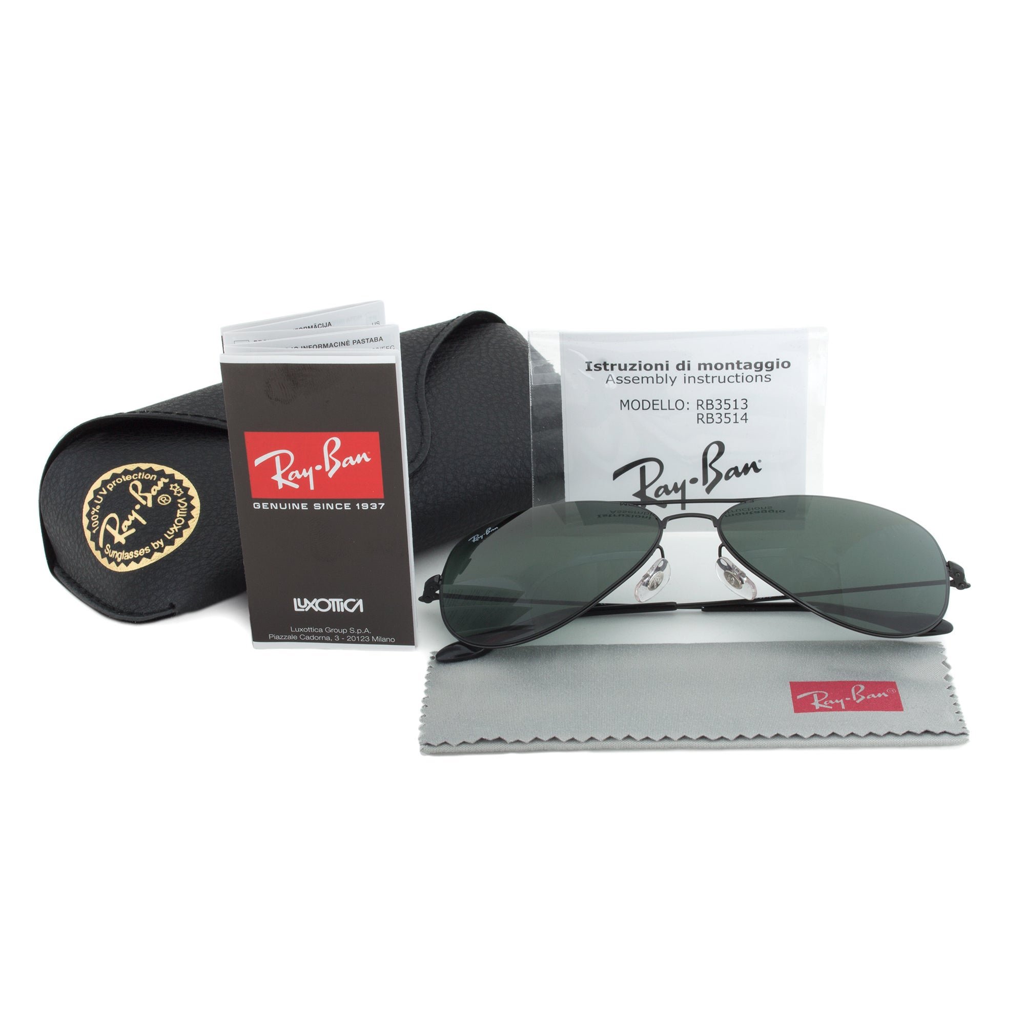 131f761bfd884 Shop Ray-Ban RB3513 153 71 Black Aviator Sunglasses - Free Shipping Today -  Overstock - 10478549