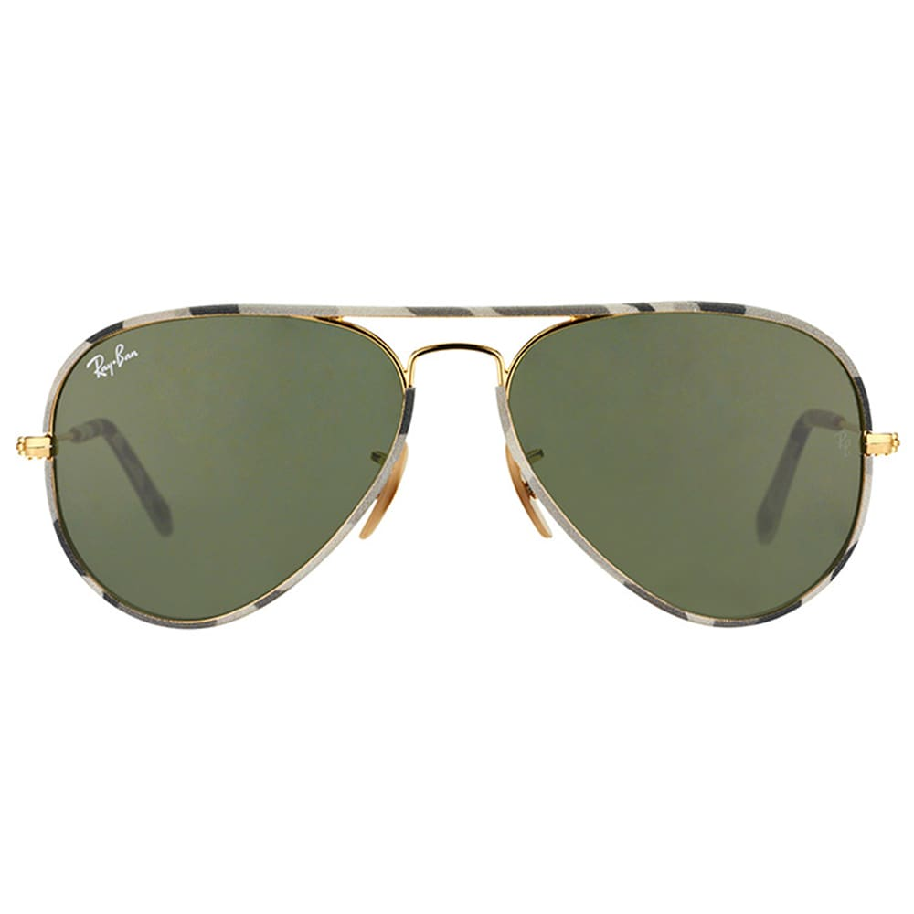 c7b844541f Shop Ray-Ban Unisex RB 3025JM Aviator Camouflage 171 58mm Metal Sunglasses  - Free Shipping Today - Overstock - 10479797