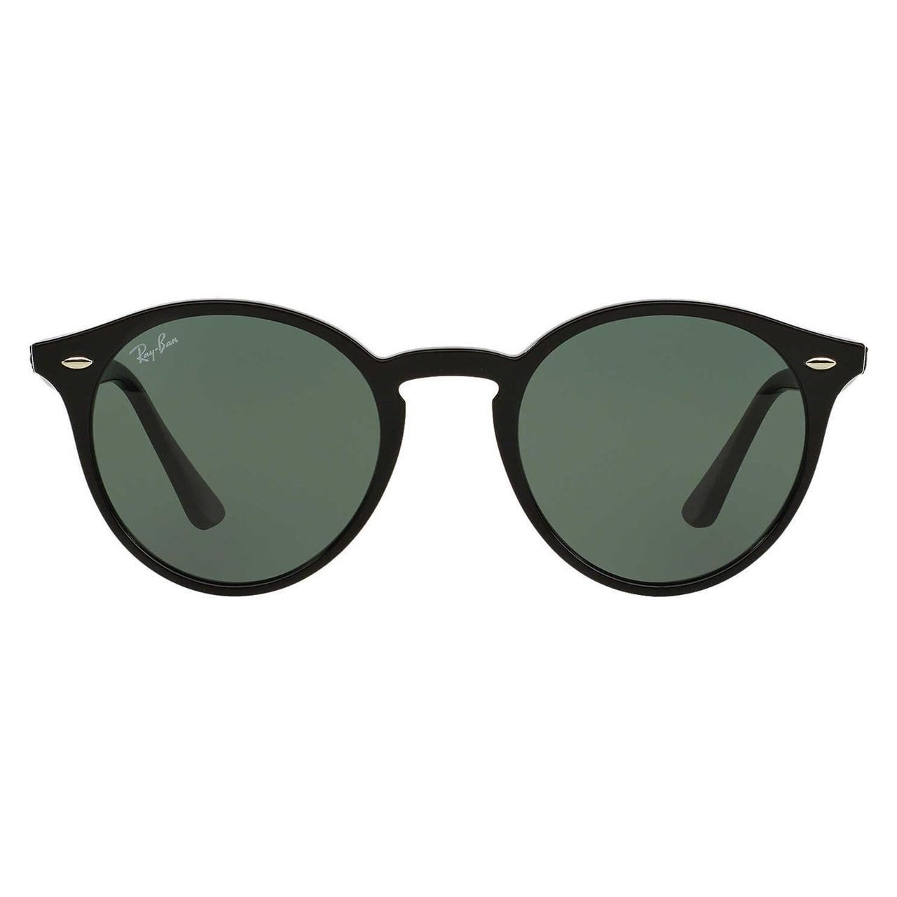 2157974a722 Shop Ray-Ban Unisex RB 2180 600.141 Shiny Black Plastic Round Sunglasses -  Free Shipping Today - Overstock - 10479799