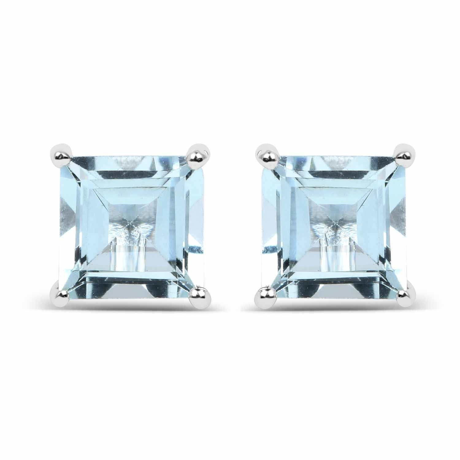 estore pandora march aquamarine en genuine birthstone earrings studs