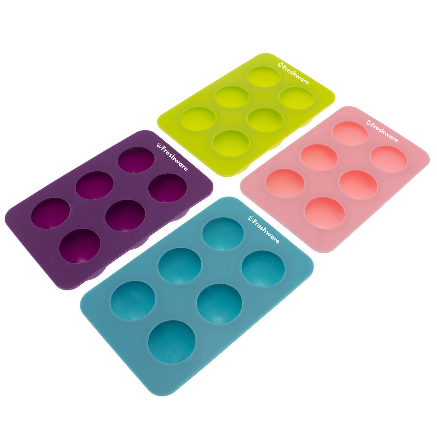 Shop Freshware Silicone 6-cavity Round Chocolate Truffle, Candy and ...