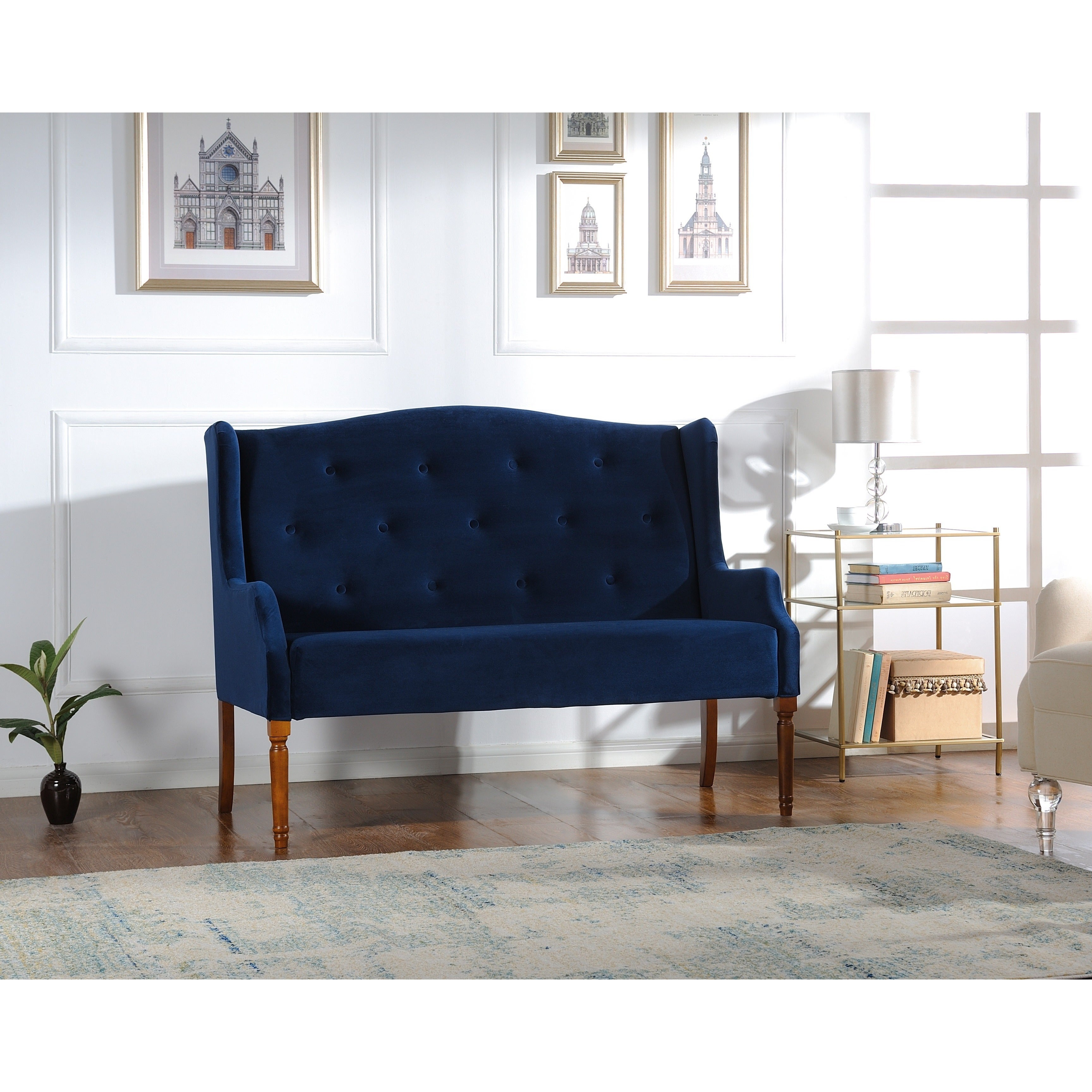 of photo upholstered design bench bedroom full settee benches astounding back new cushion with arms mhf sofa rolled modern tufted size high home seat