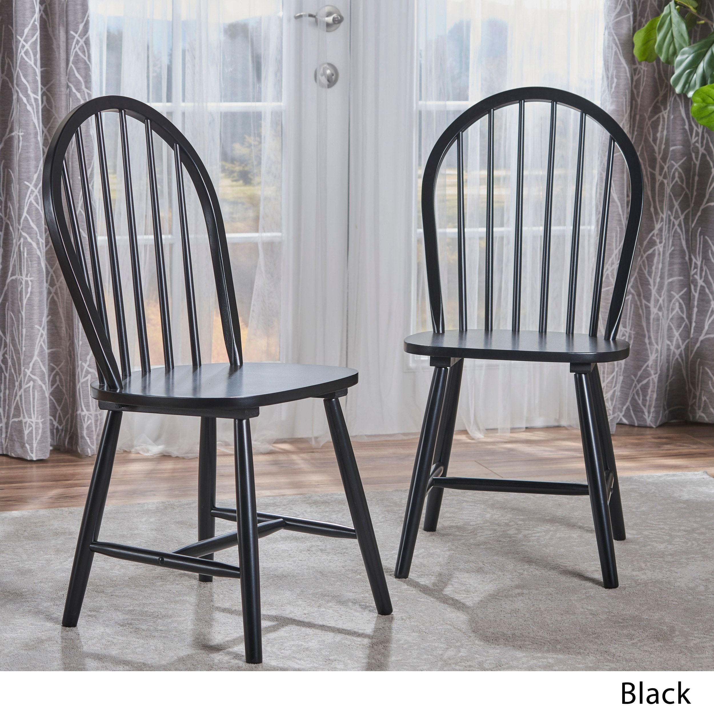 Shop Countryside High Back Spindle Wood Dining Chair (Set Of 2) By  Christopher Knight Home   On Sale   Free Shipping Today   Overstock.com    10481472