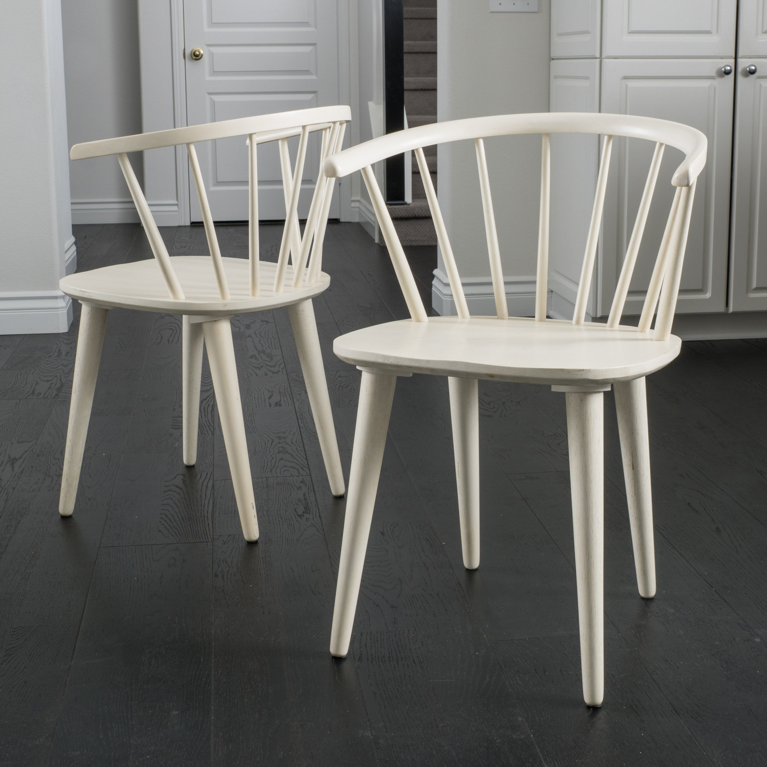 Countryside Rounded Back Spindle Wood Dining Chair Set Of 2 By Christopher Knight Home On Free Shipping Today 10481480