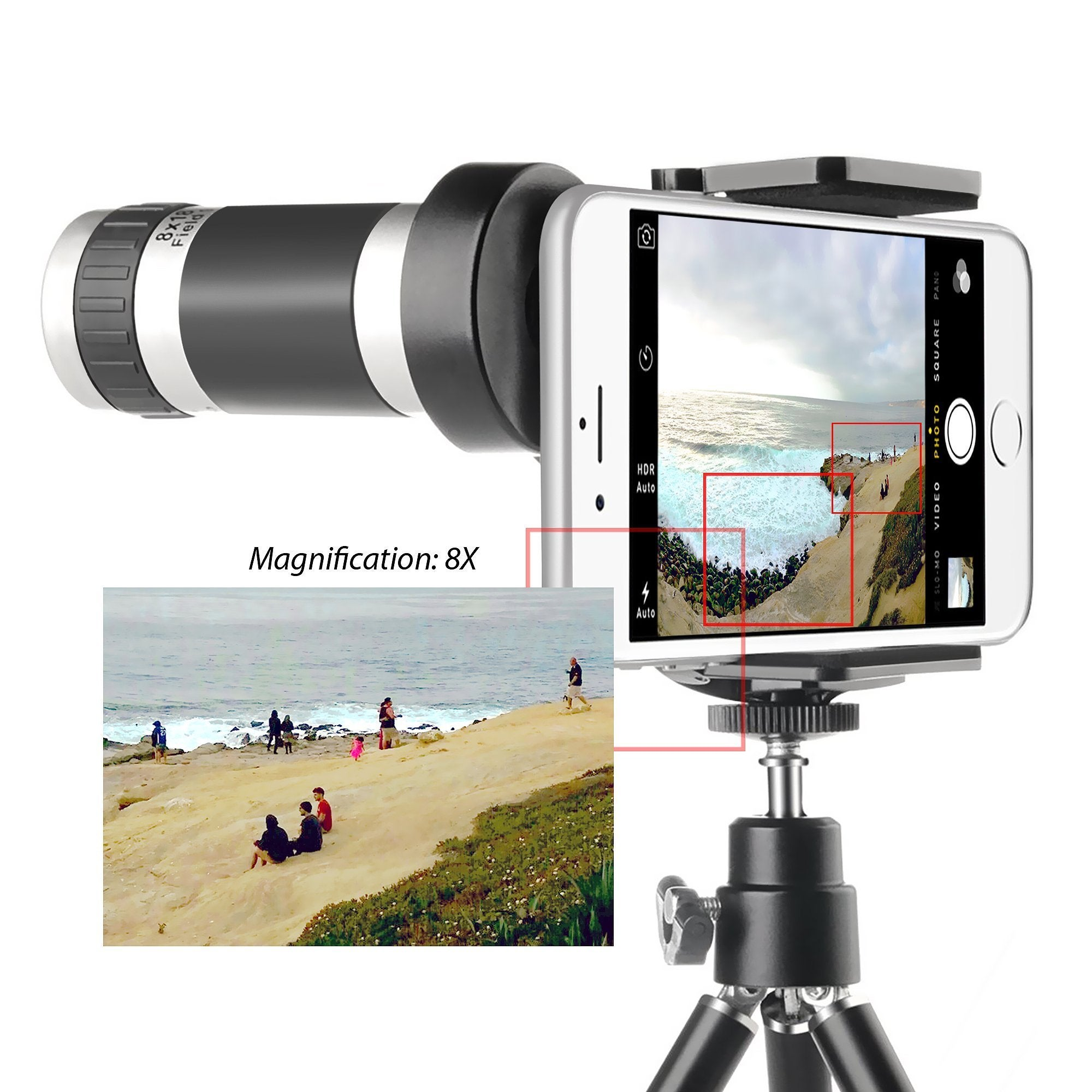 Shop Insten 8X Telescope Phone Camera Zoom Lens with Tripod for Samsung Galaxy S6/ S5/ Note Edge - Free Shipping On Orders Over $45 - Overstock - 10481590