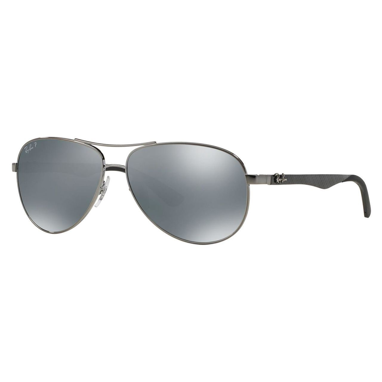 24d36610ec Shop Ray-Ban Men s RB8313 Gunmetal Metal Pilot Polarized Sunglasses - Free  Shipping Today - Overstock - 10481960