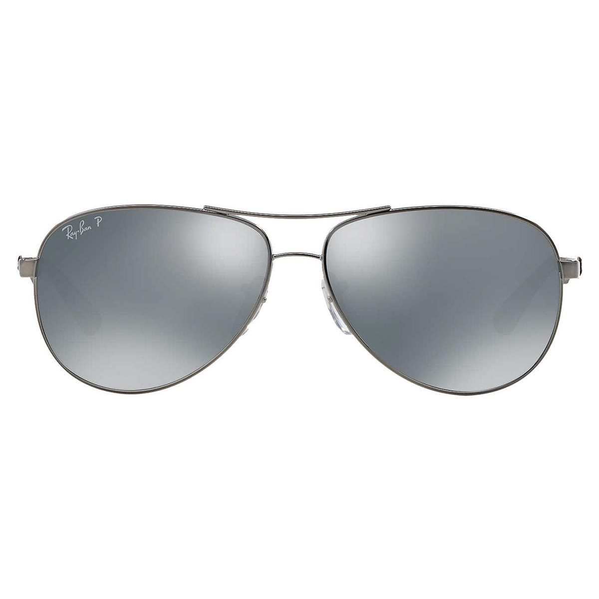 278f0e61c4a Shop Ray-Ban Men s RB8313 Gunmetal Metal Pilot Polarized Sunglasses - Free  Shipping Today - Overstock - 10481976