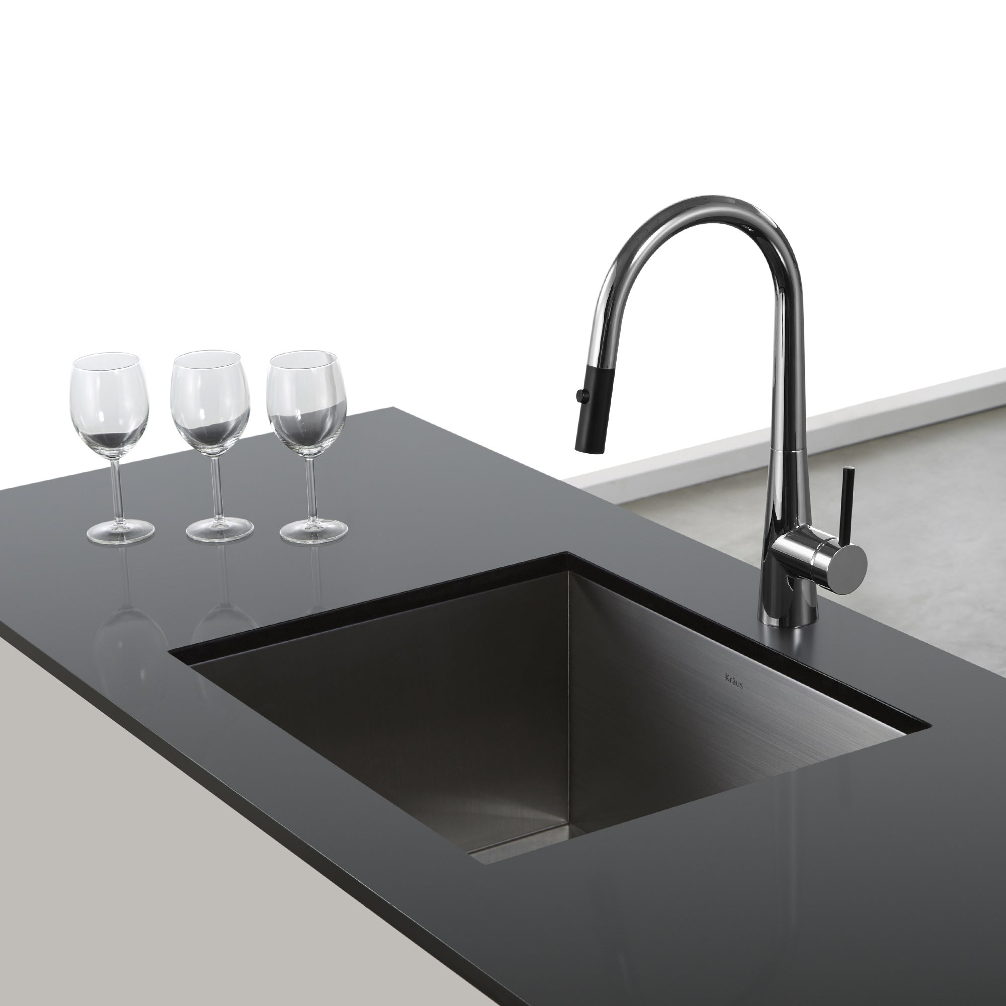Shop KRAUS Crespo Single-Handle Kitchen Faucet with Pull Down Dual ...
