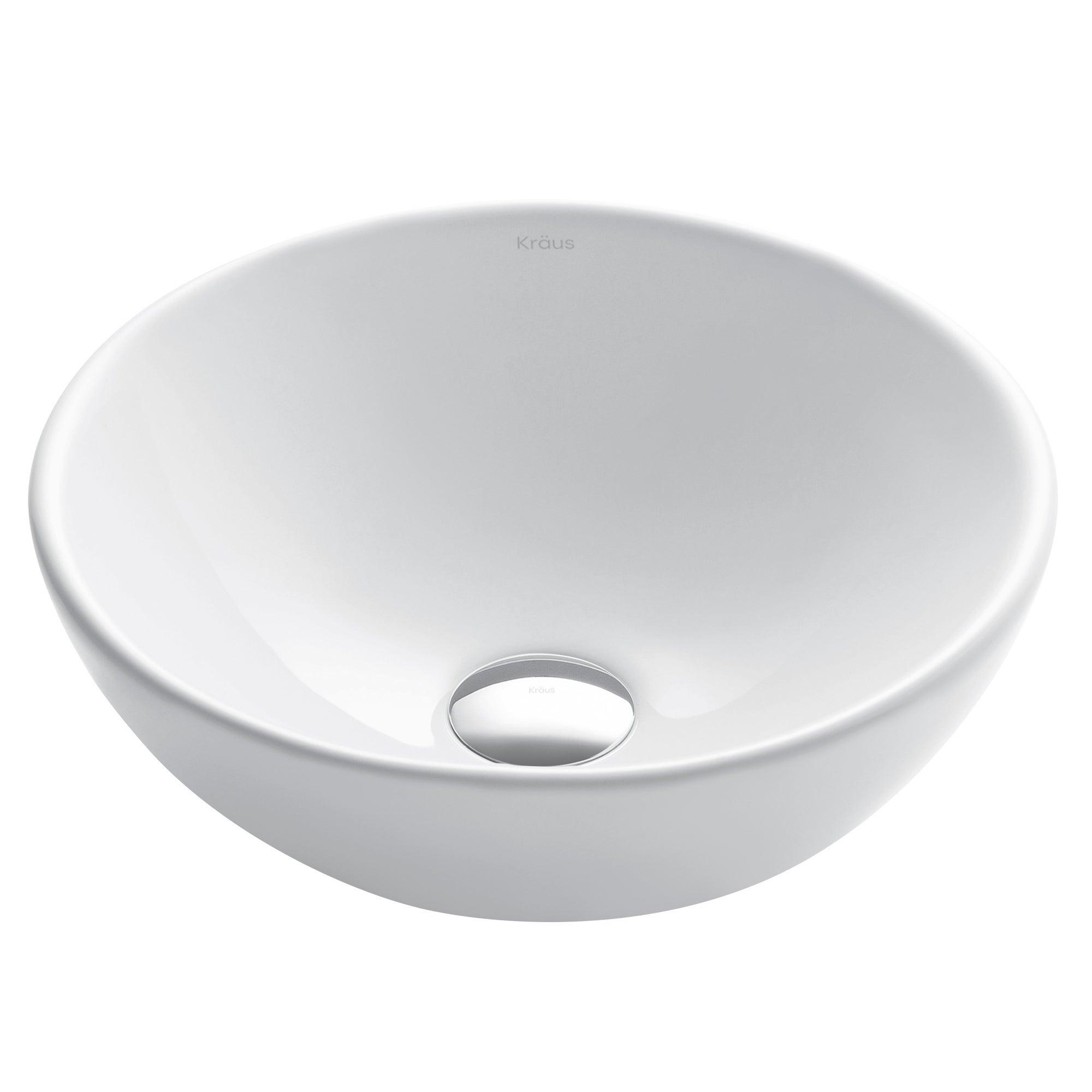 Kraus Kcv 341 Elavo 13 4 5 Inch Small Round Vessel Porcelain Ceramic Vitreous Bathroom Sink In White