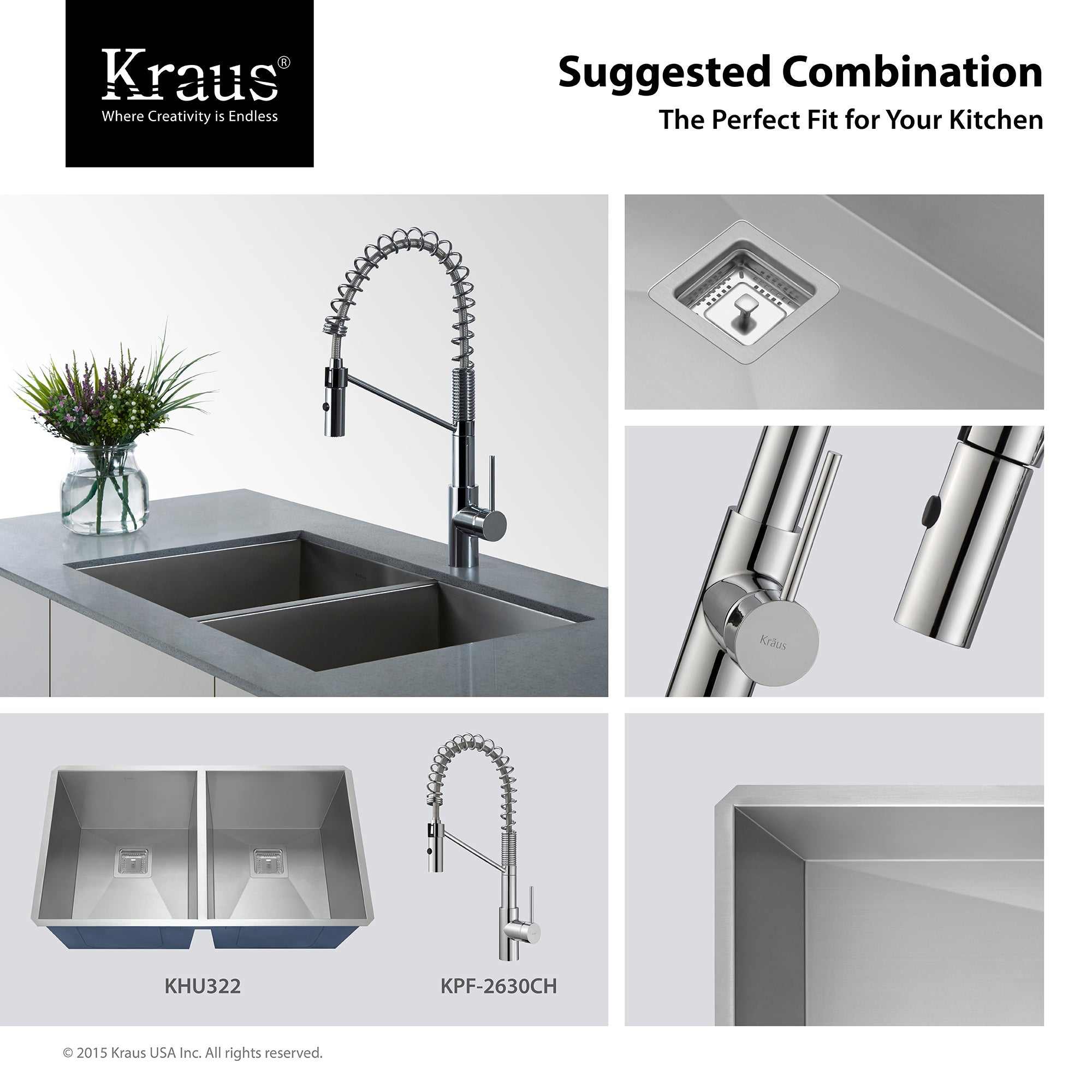 kpf com kitchen kraus commercial faucet kraususa handle sprayhead pull kf sprayer with function down bolden single dual inch