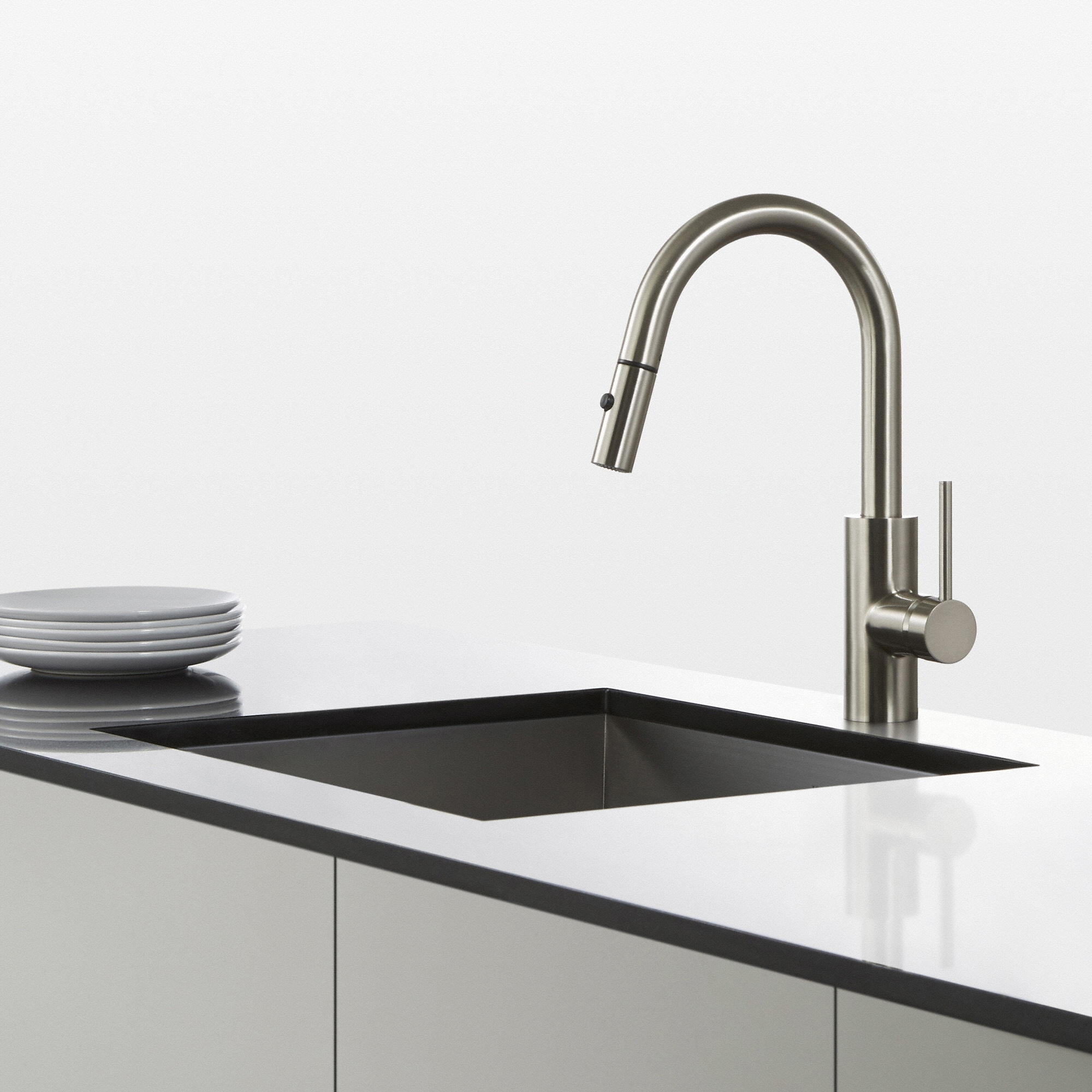 KRAUS Oletto Single-Handle Kitchen Faucet with Pull Down Dual-Function  Sprayer - Free Shipping Today - Overstock.com - 17570604