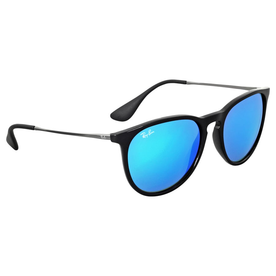 a93b4808ff Shop Ray-Ban Erika Color Mix Blur RB4171 601 5554 Womens Black Gunmetal  Frame Blue Mirror Lens Sunglasses - Free Shipping Today - Overstock -  10482139