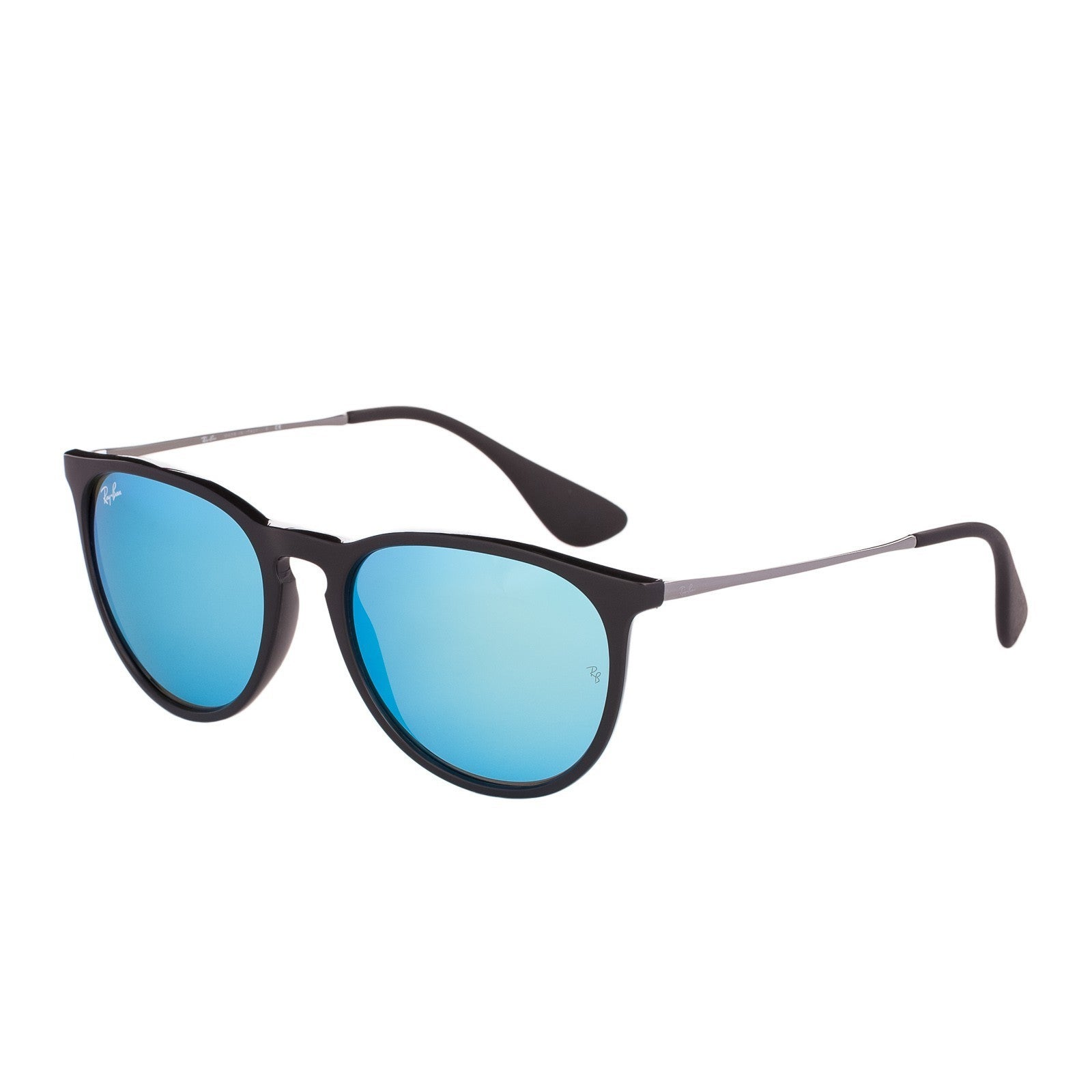 17caa594eb Shop Ray-Ban Erika Color Mix Blur RB4171 601 5554 Womens Black Gunmetal  Frame Blue Mirror Lens Sunglasses - Free Shipping Today - Overstock -  10482139
