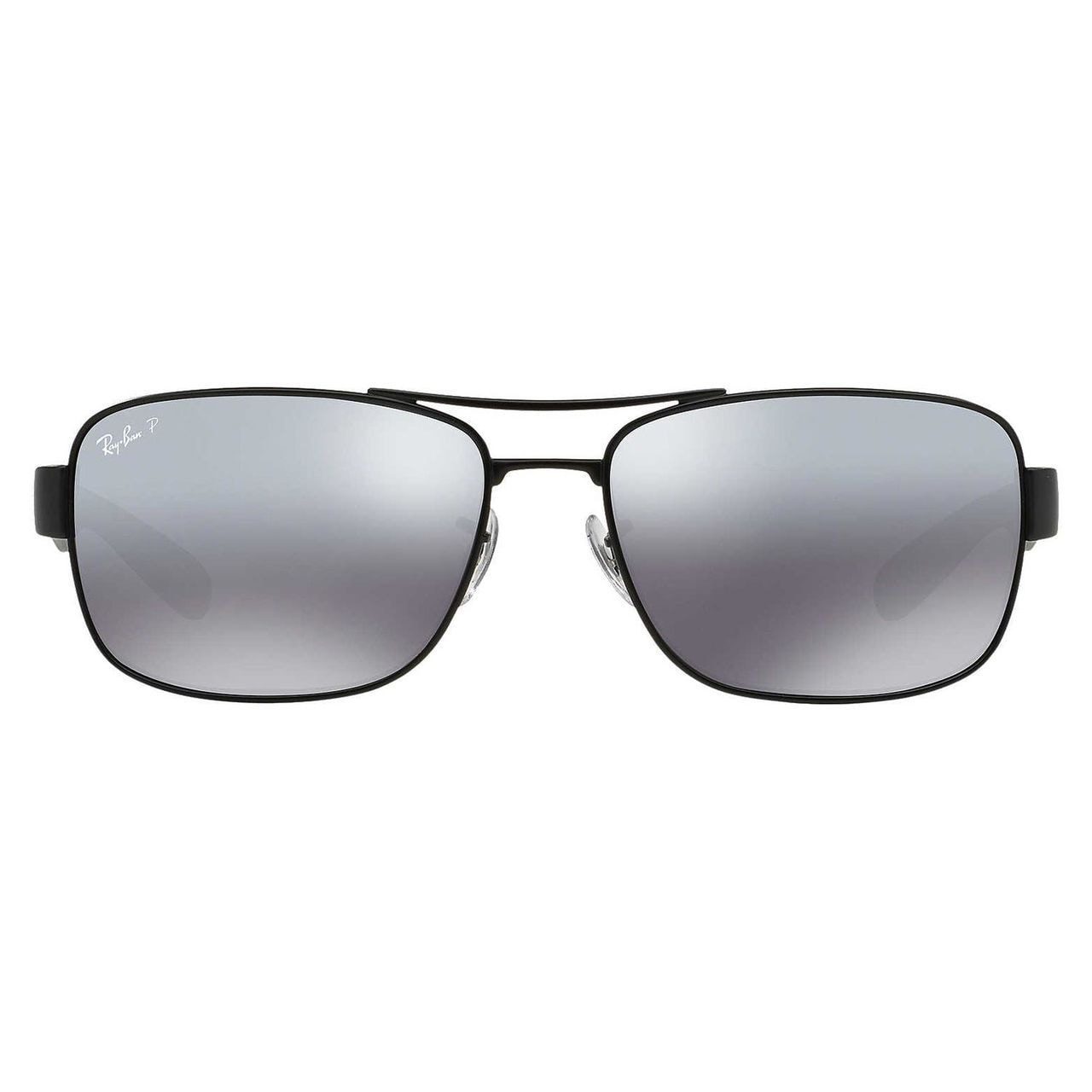 890265aec0 Shop Ray-Ban Men s RB3522 Black Metal Square Polarized Sunglasses - Free  Shipping Today - Overstock.com - 10482525