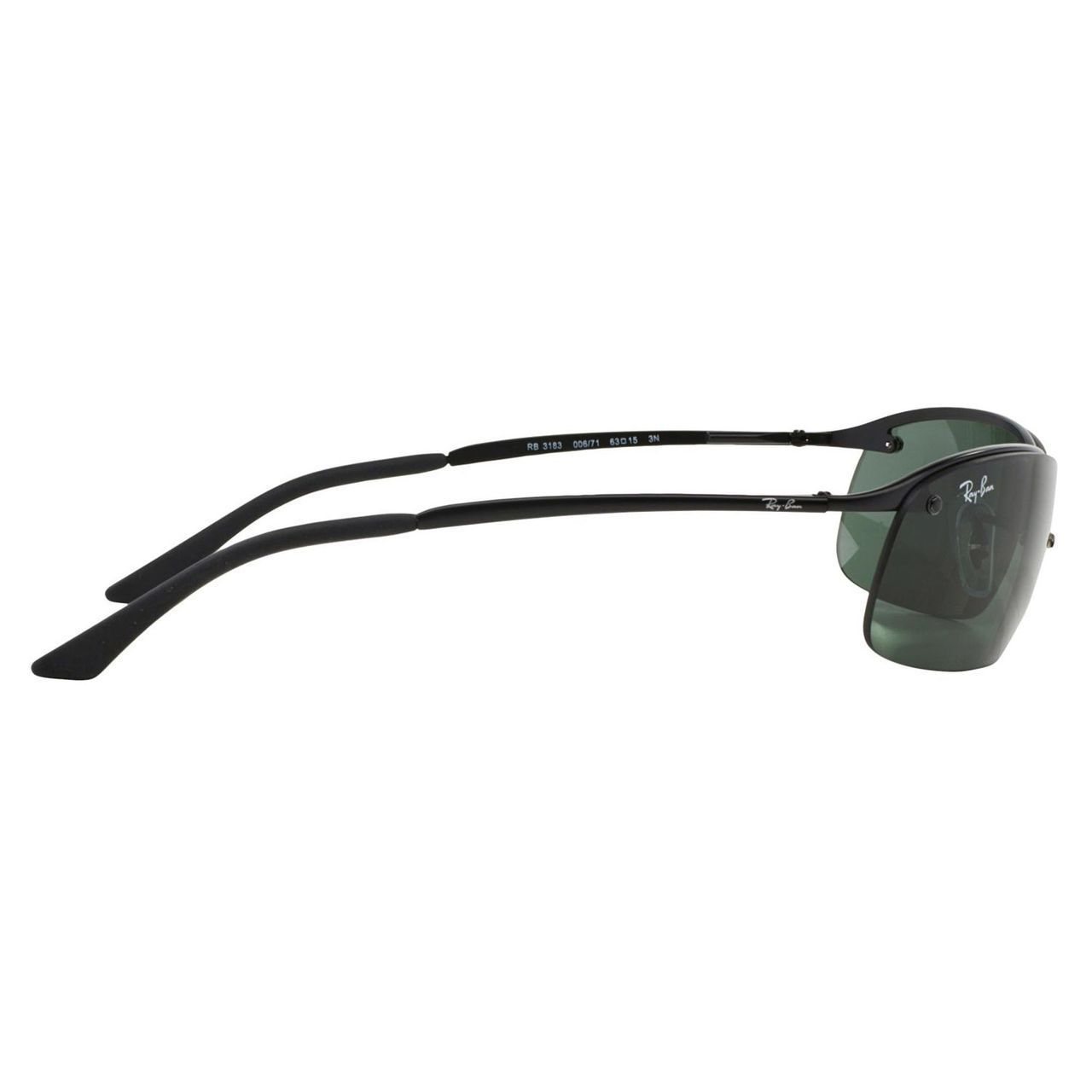 926bb018473 Shop Ray-Ban Men s RB3183 Black Metal Rectangle Sunglasses - Free Shipping  Today - Overstock.com - 10482586
