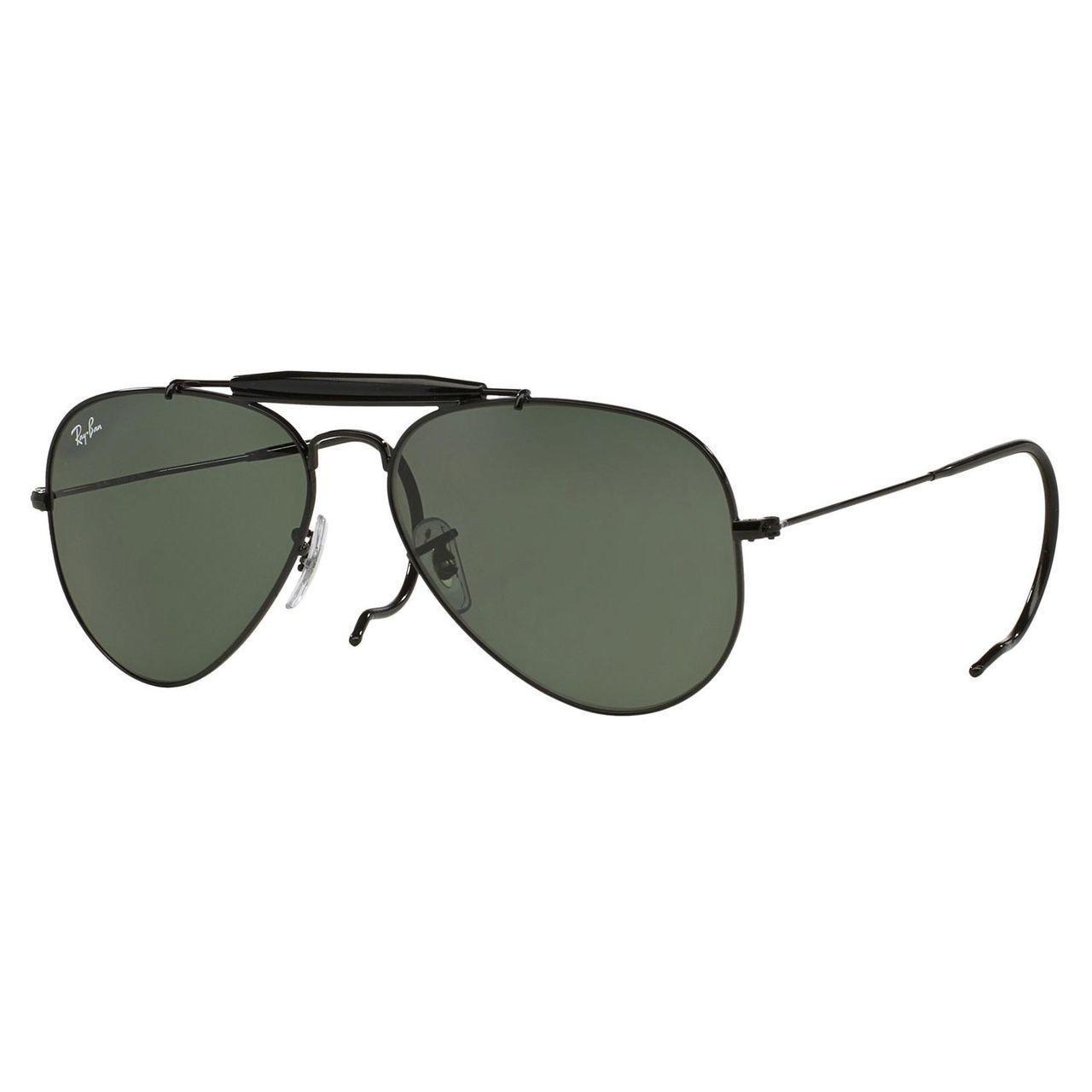 4484faef9c Shop Ray-Ban Men s RB3030 Black Metal Pilot Sunglasses - Free Shipping  Today - Overstock - 10482611