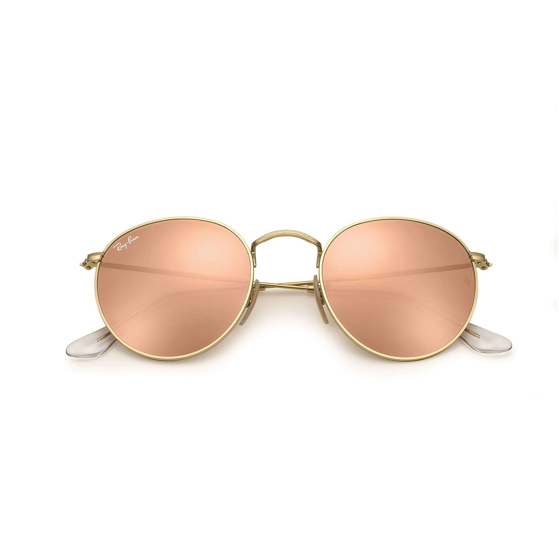 dbefb393d18ad Shop Ray-Ban RB3447 Round Flash Lenses Sunglasses Gold  Copper Flash 50mm -  Gold - Free Shipping Today - Overstock - 10482651