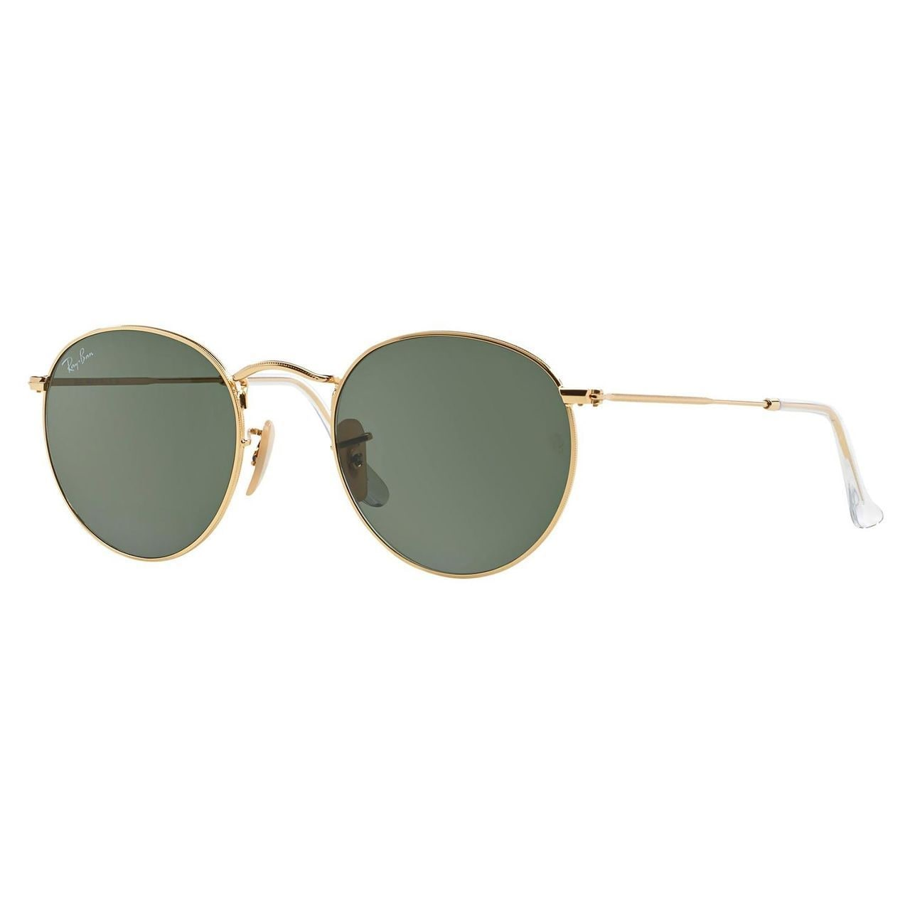 b3c705c41086 Ray-Ban Round Metal RB3447 Unisex Gold Frame Green Classic Lens Sunglasses