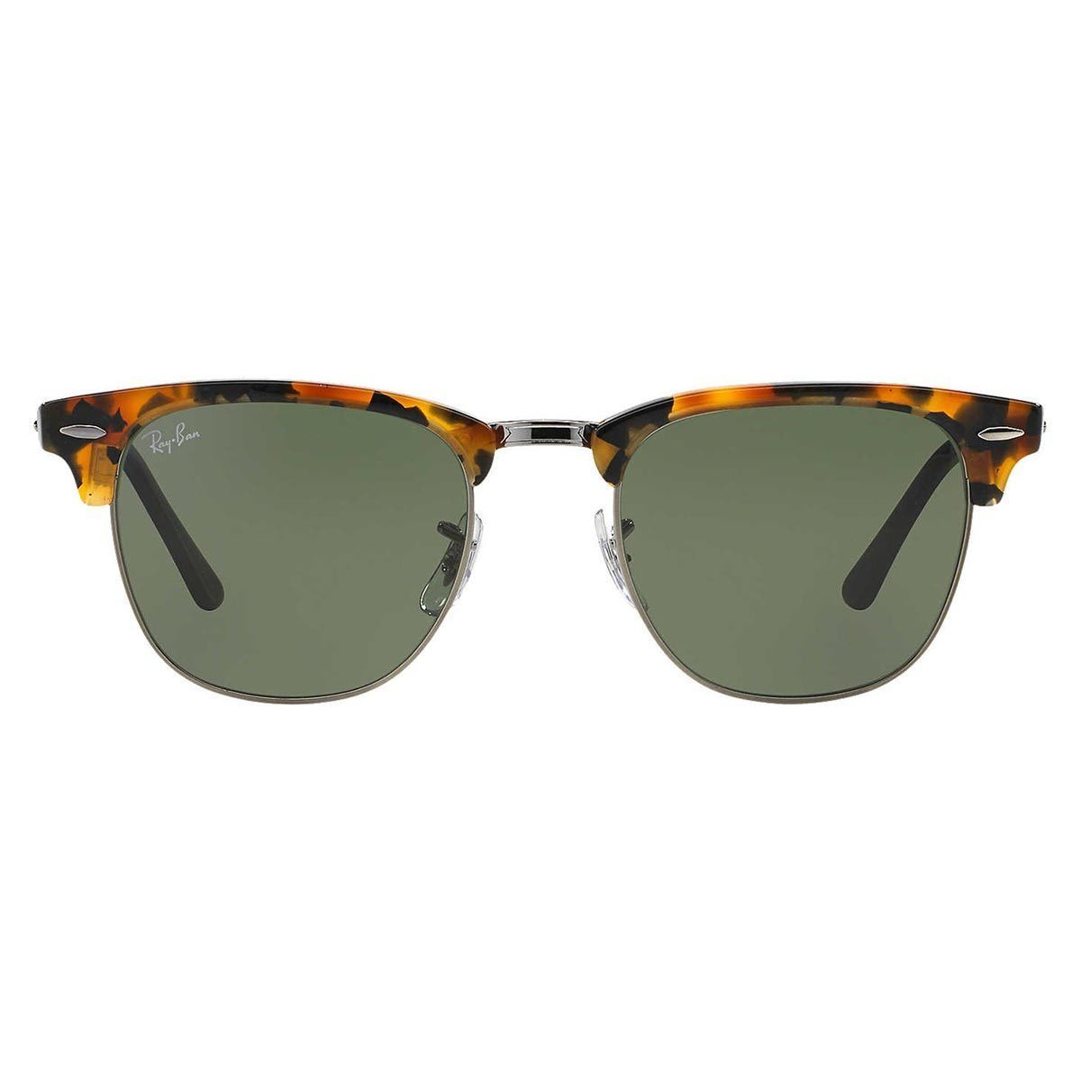 0fbe03e905f Shop Ray-Ban Clubmaster Fleck RB3016 1157 Unisex Tortoise Black Frame Green  Classic Lens Sunglasses - Black - Free Shipping Today - Overstock - 10482671