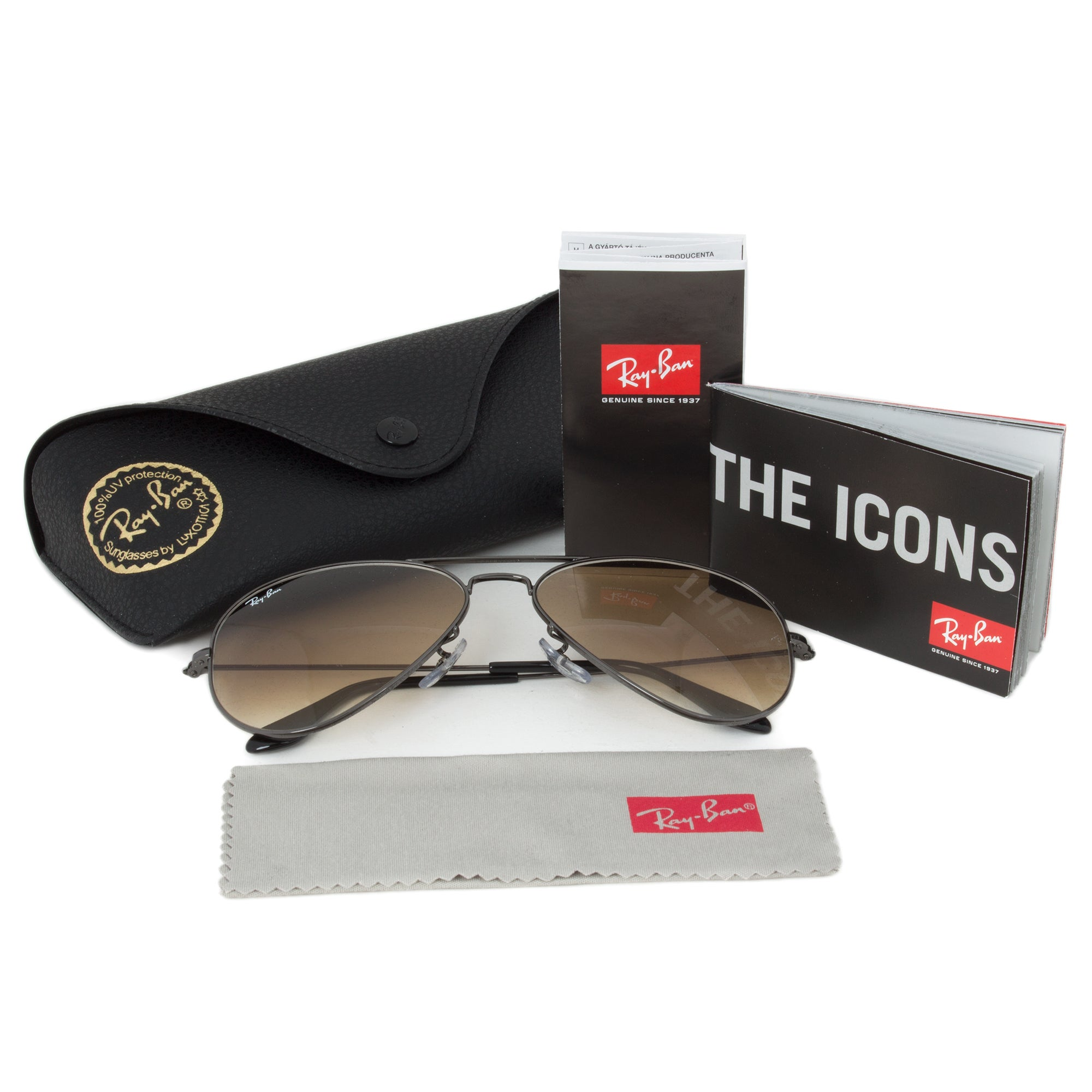 5f6147992b Shop Ray-Ban RB3025 004 51 Size 58 Brown Gradient Lens Gunmetal Frame  Aviator Sunglasses - Free Shipping Today - Overstock - 10482707