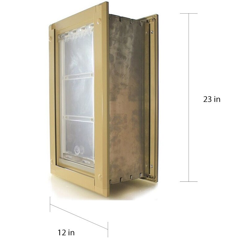 Shop Endura Flap Single Flap Pet Door For Walls Free Shipping