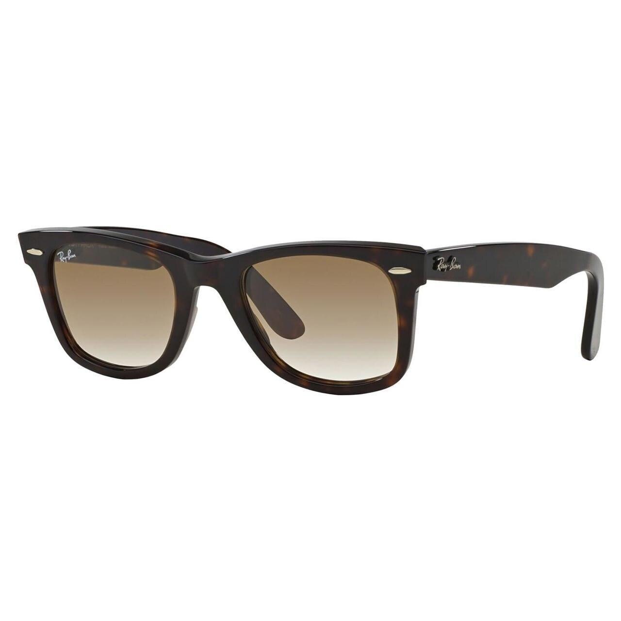 23177dd687 Ray-Ban Wayfarer Classic RB2140 Unisex Tortoise Frame Green Lens Sunglasses