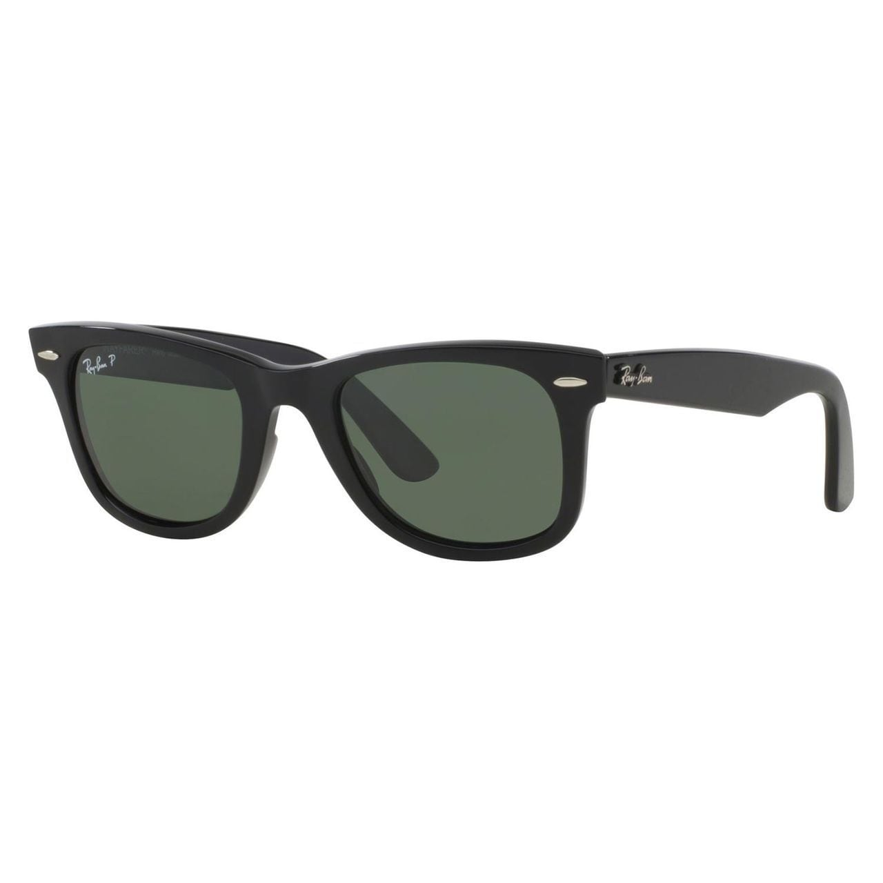 e277d5670aa Ray-Ban RB2140 Original Wayfarer Classic Polarized Sunglasses Black  Green  Classic 54mm - Black