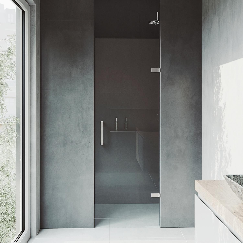 Shop Vigo Soho 24 Inch Adjustable Frameless Shower Door Clear