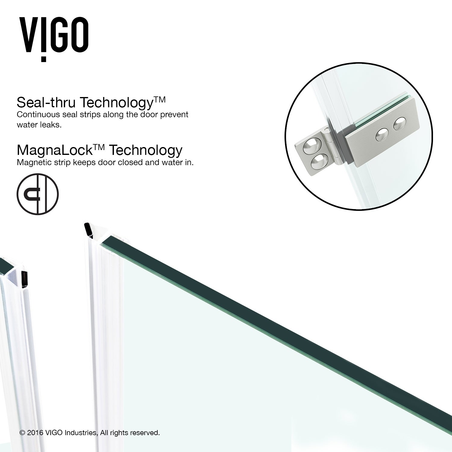 Shop Vigo Soho 30 Inch Adjustable Frameless Shower Door Clear