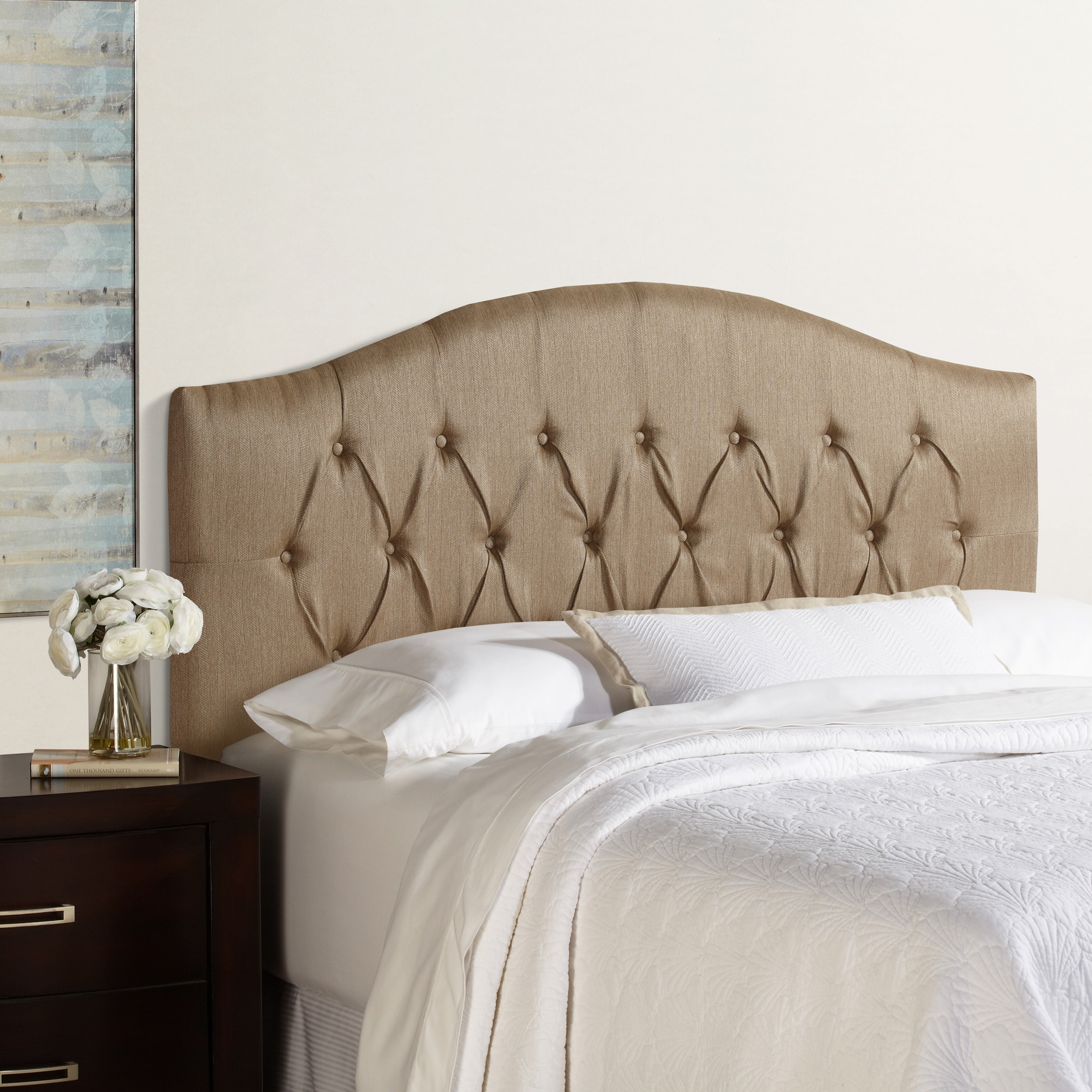 Humble + Haute Halifax Brown Arched Upholstered Headboard  Free