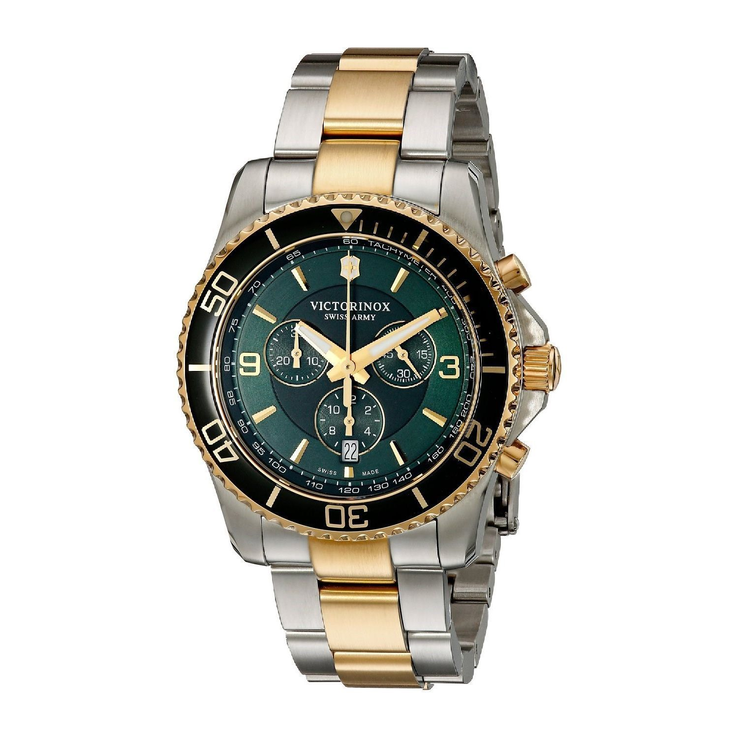 Victorinox Swiss Army Men S 241693 Maverick Chronograph Two Tone Stainless Steel Watch Free Shipping Today 17577241