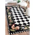 nuLOOM Hand-hooked Moroccan Rooster Checkered Wool Rug (3'6 x 5'6) in Black (As Is Item)