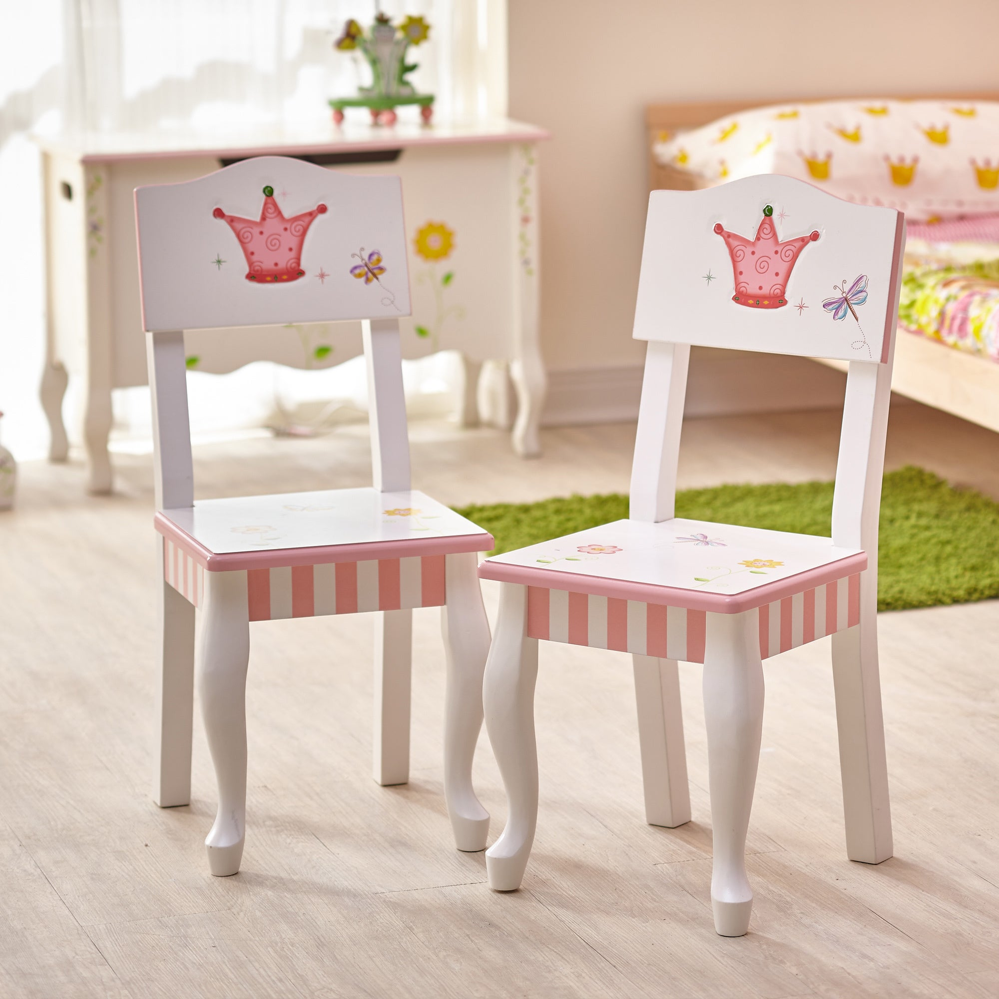 Fantasy Fields Princess and Frog 3-piece Kid\'s Table Set